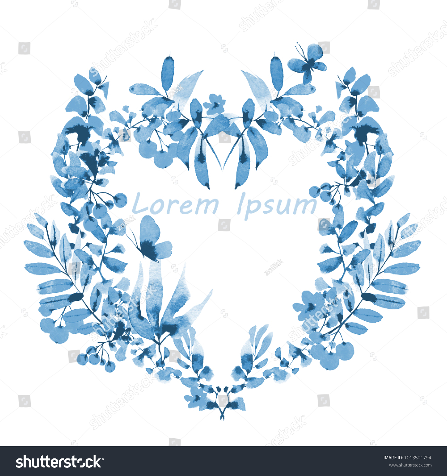 Greeting Card Frame Shape Heart Monochrome Stock Illustration
