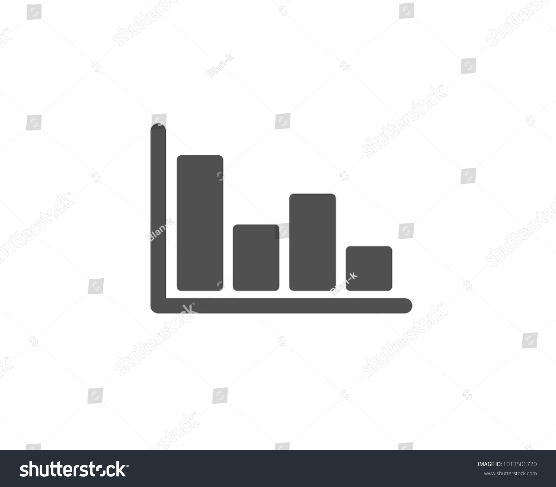 Histogram Column Chart Simple Icon Financial Stock Vector Royalty
