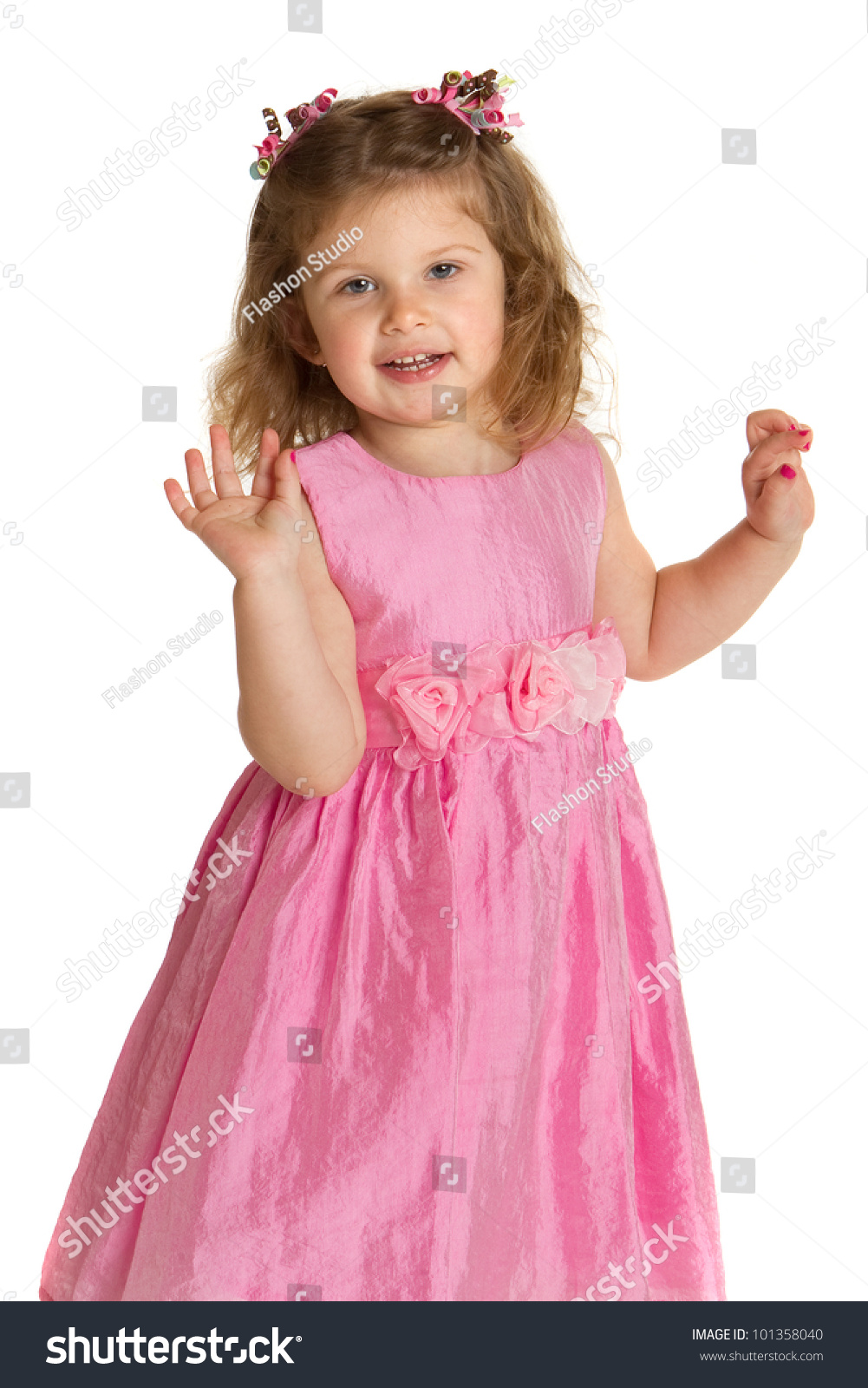 55ca79b04 3 Year Old Little Girl Pink Stock Photo (Edit Now) 101358040 ...
