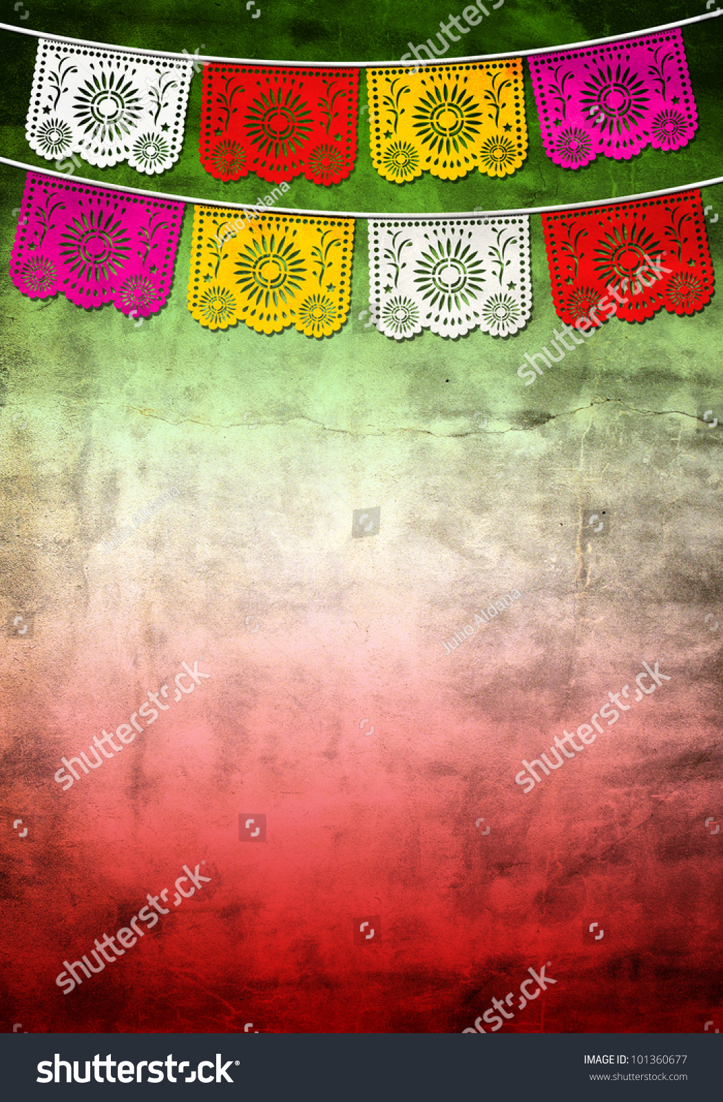 Mexican 5 cinco de mayo paper decoration poster card for Poster decoratif
