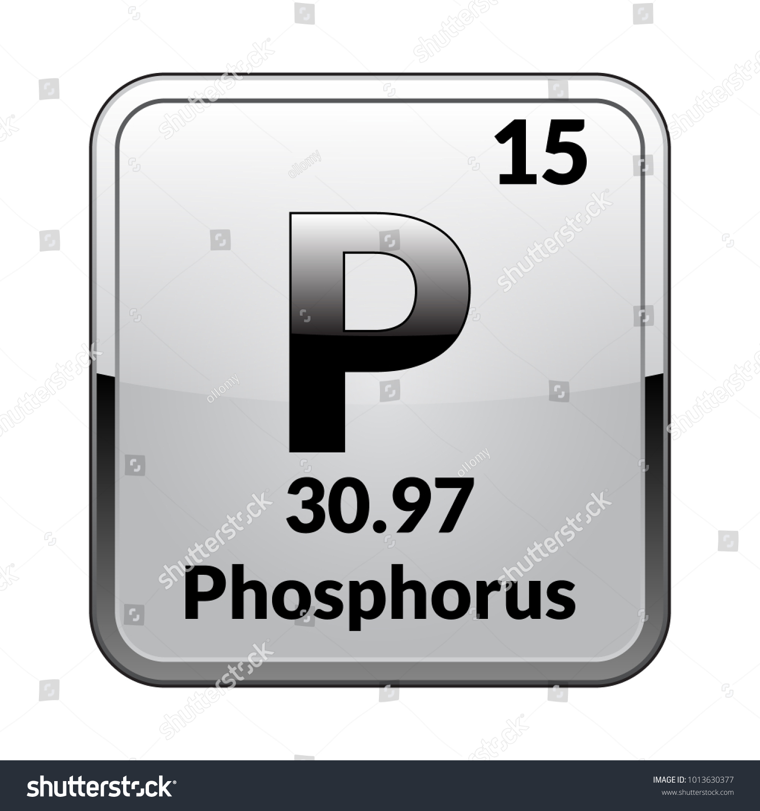 Phosphorus Symbolchemical Element Periodic Table On Stock Vector
