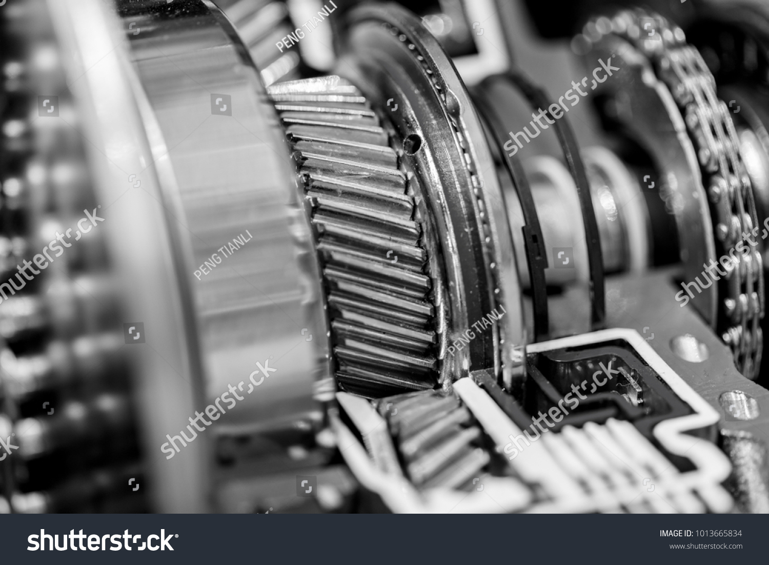 Part Internal Structure Car Engine Black Stock Photo (Royalty Free ...