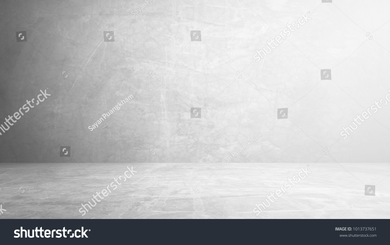 cement floor and wall backgrounds, room, interior, display products.