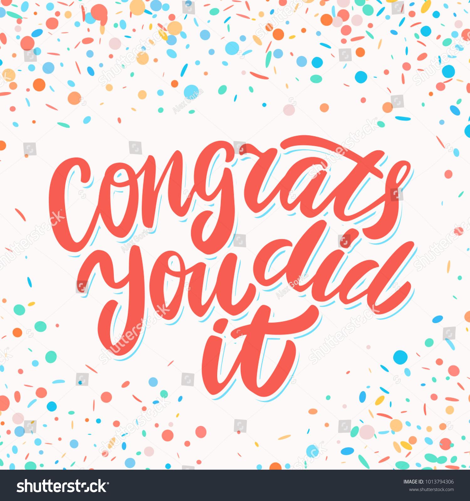 congrats you did it congratulations sign のベクター画像素材