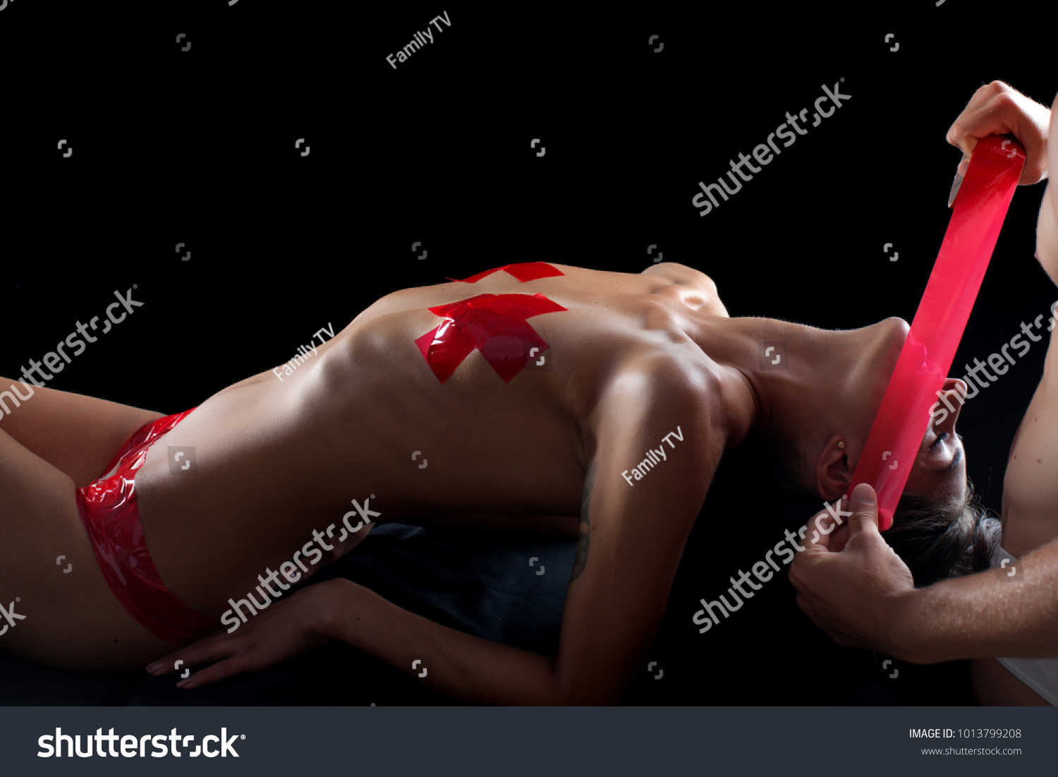 Erotic game play. Sensual. Passionate. Adult. Couple in love