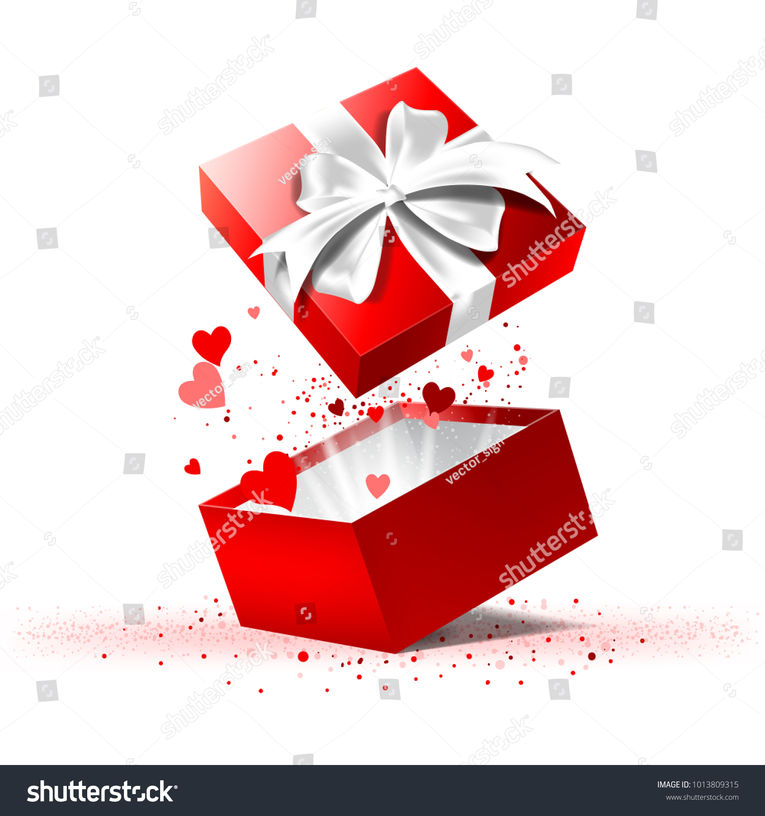 Valentines Day Gift Box Stock-Vektorgrafik 1013809315 – Shutterstock