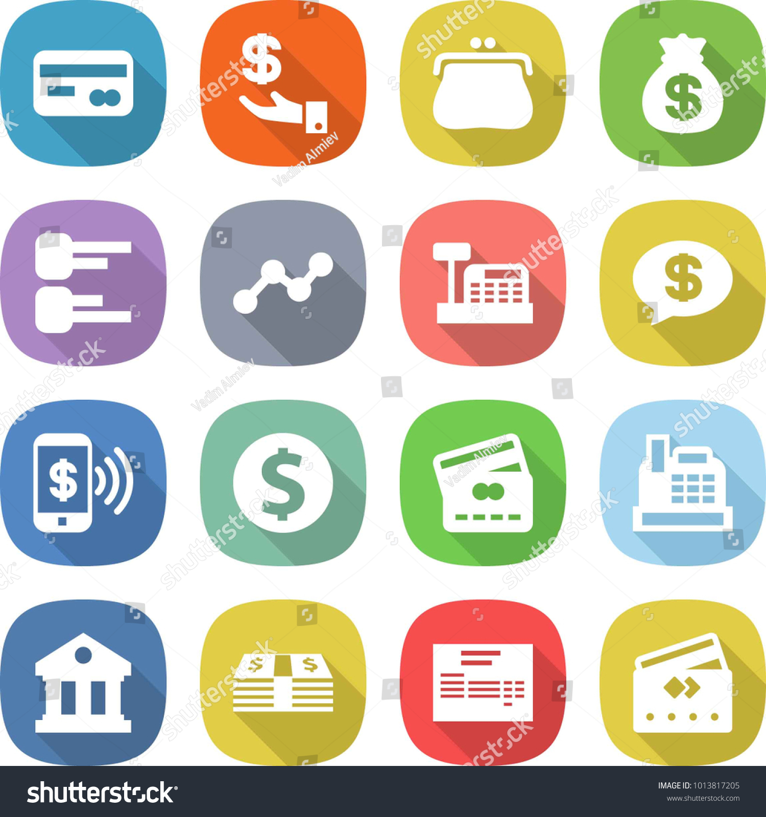 Flat vector icon set card vector investment purse money bag id 1013817205 ccuart Choice Image