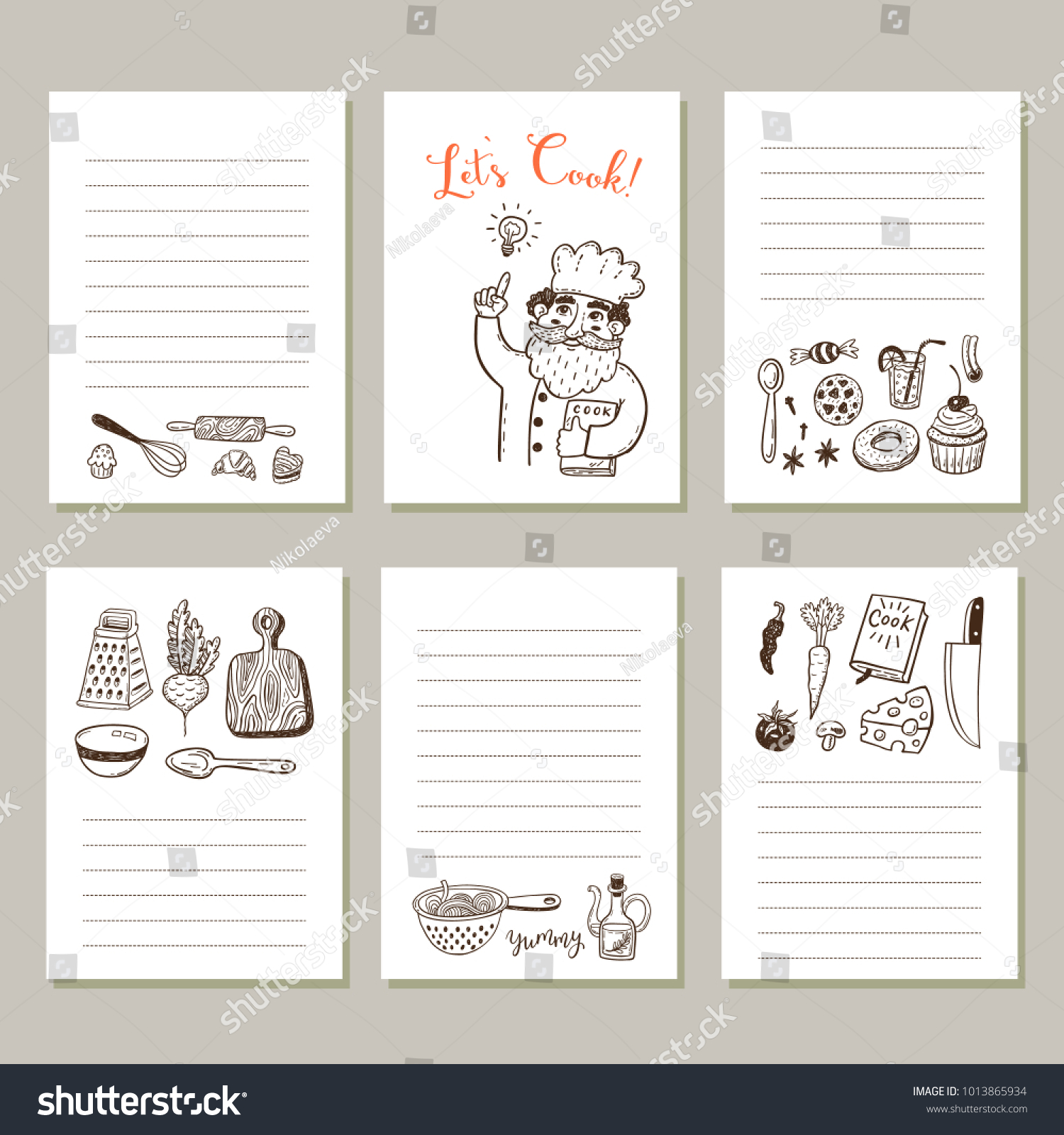 Page template set notes cooking recipe vector de stock1013865934 page template set notes cooking recipe vector de stock1013865934 shutterstock forumfinder Gallery