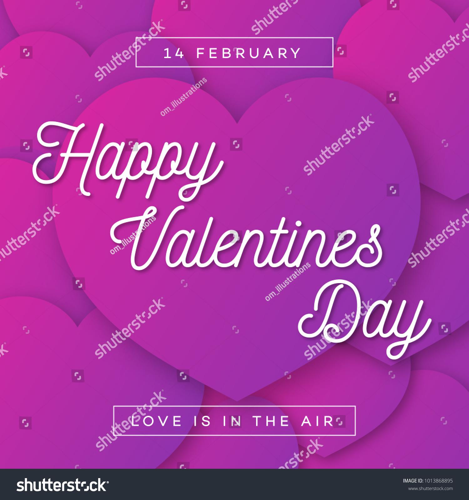 Happy Valentines Greeting Card Wish On Stock Illustration 1013868895