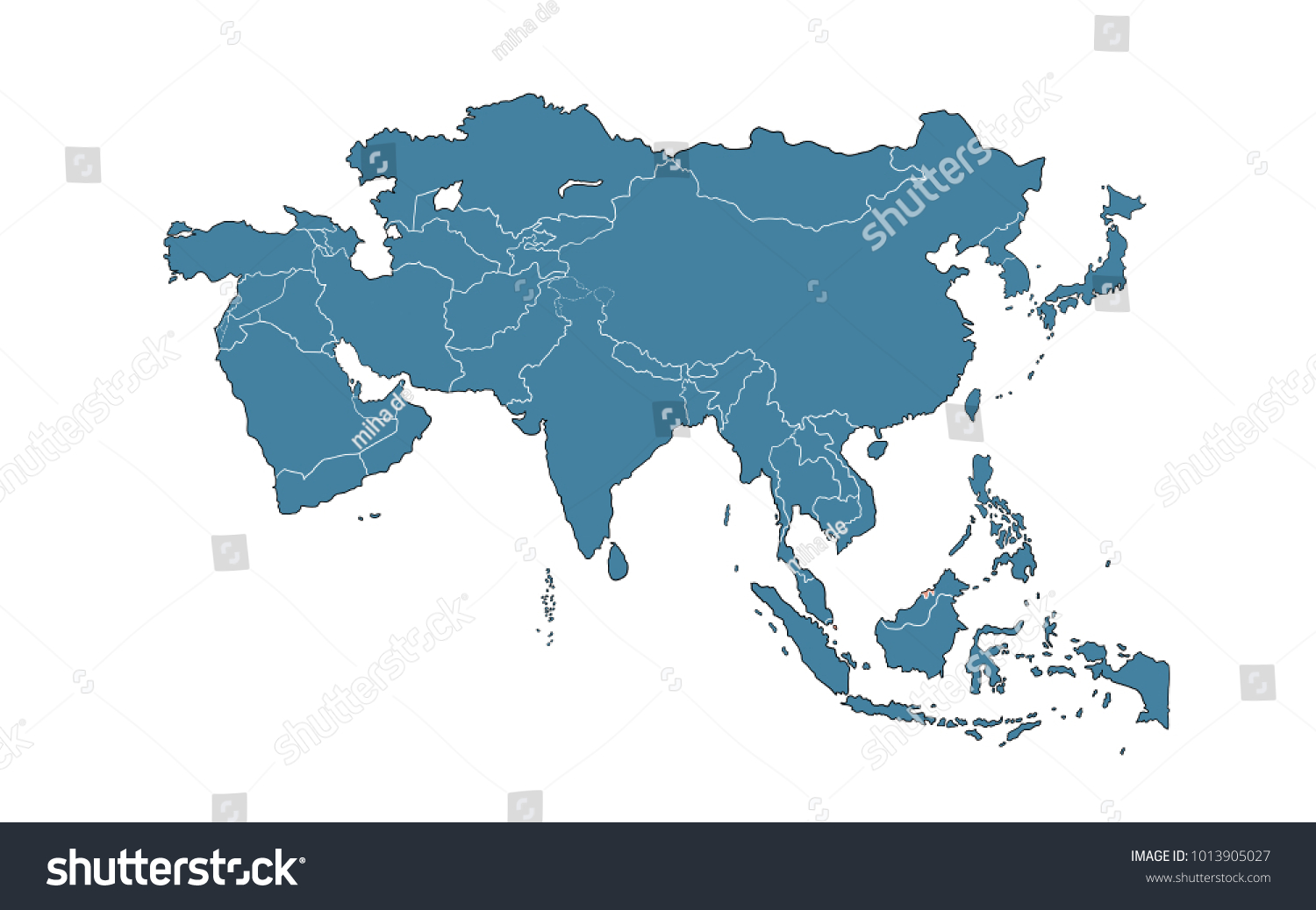 Royalty Free Stock Illustration Of Brunei On Map Asia Stock