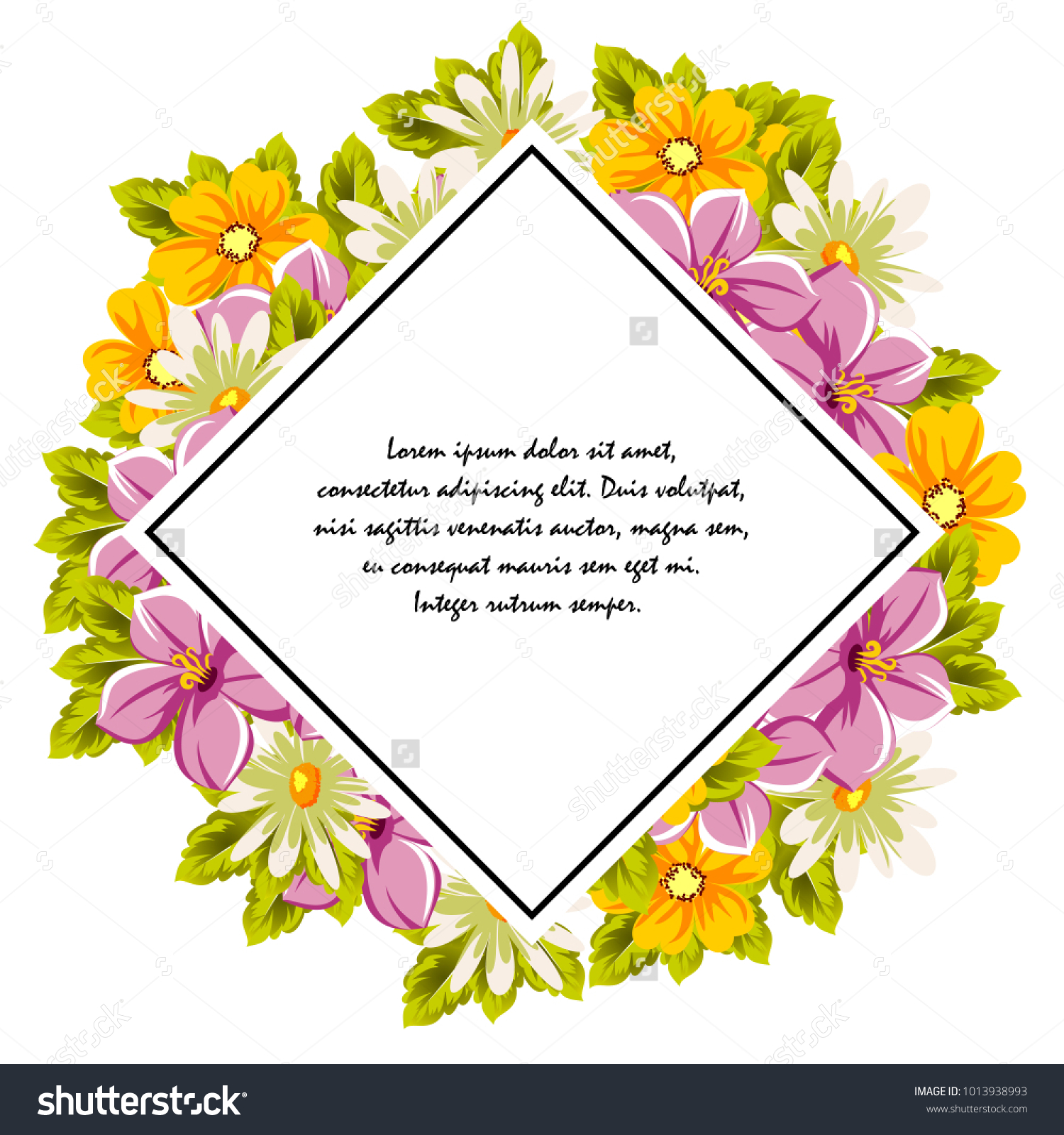 Frame of flowers for card designs greeting cards birthday frame of flowers for card designs greeting cards birthday invitations valentines day party holiday vector illustration ez canvas izmirmasajfo