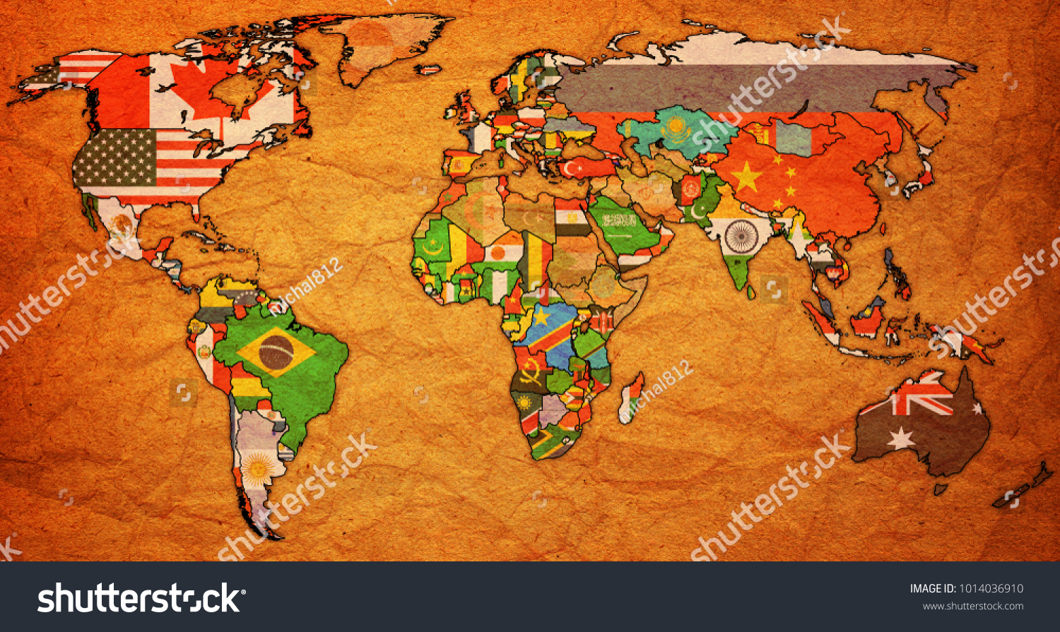 World trade organization member countries flags stock illustration world trade organization member countries flags on world map with national borders gumiabroncs Choice Image