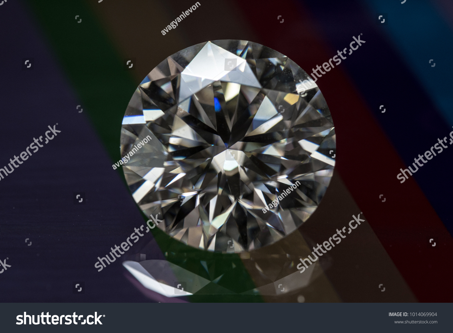 stock over gradient sparkles background photo large one diamond with