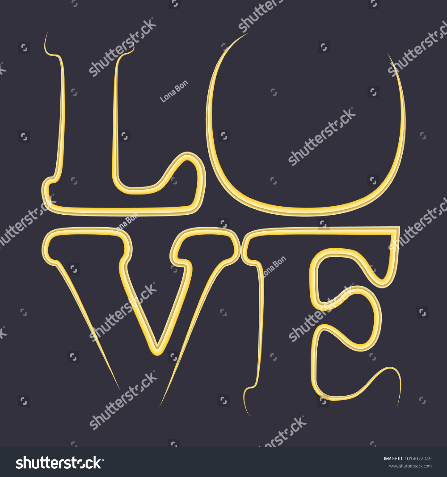 Love Word Happy Valentines Day Greeting Card Valentines Day Simple Background For Design Or