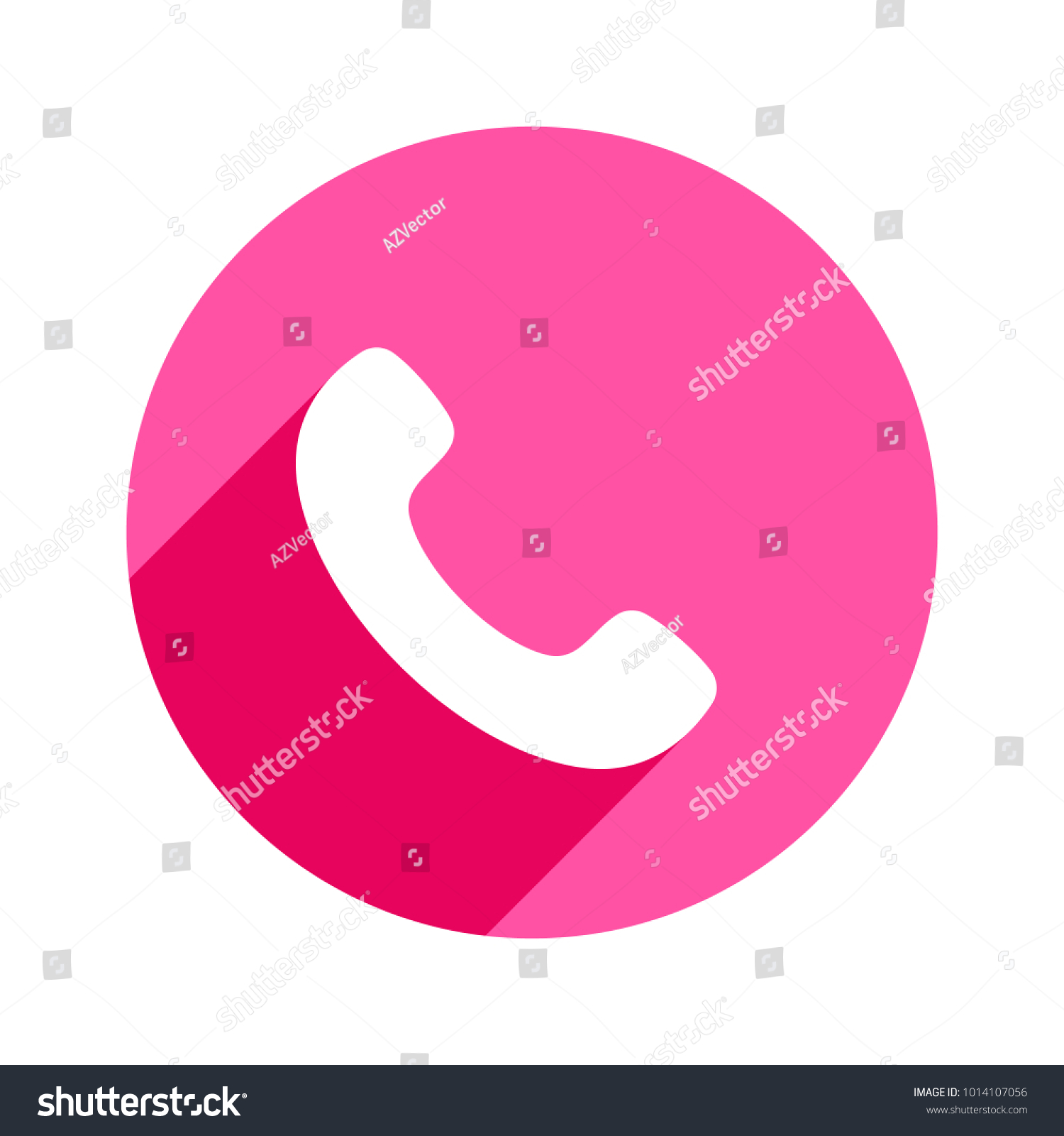 Phone Icon In Trendy Flat Style Isolated Handset Icon Telephone