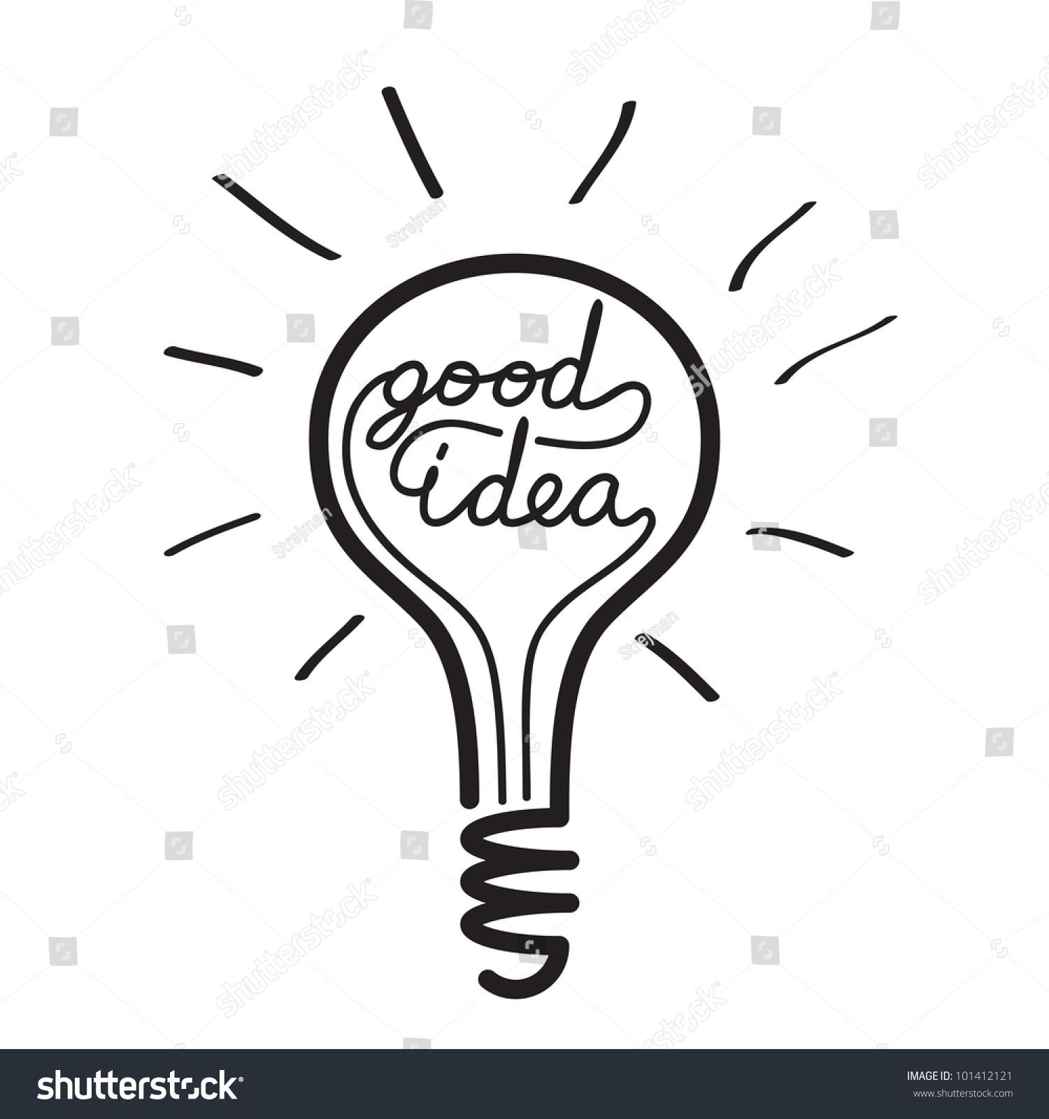 Light Bulb Idea Vector Stock Vector 101412121 - Shutterstock