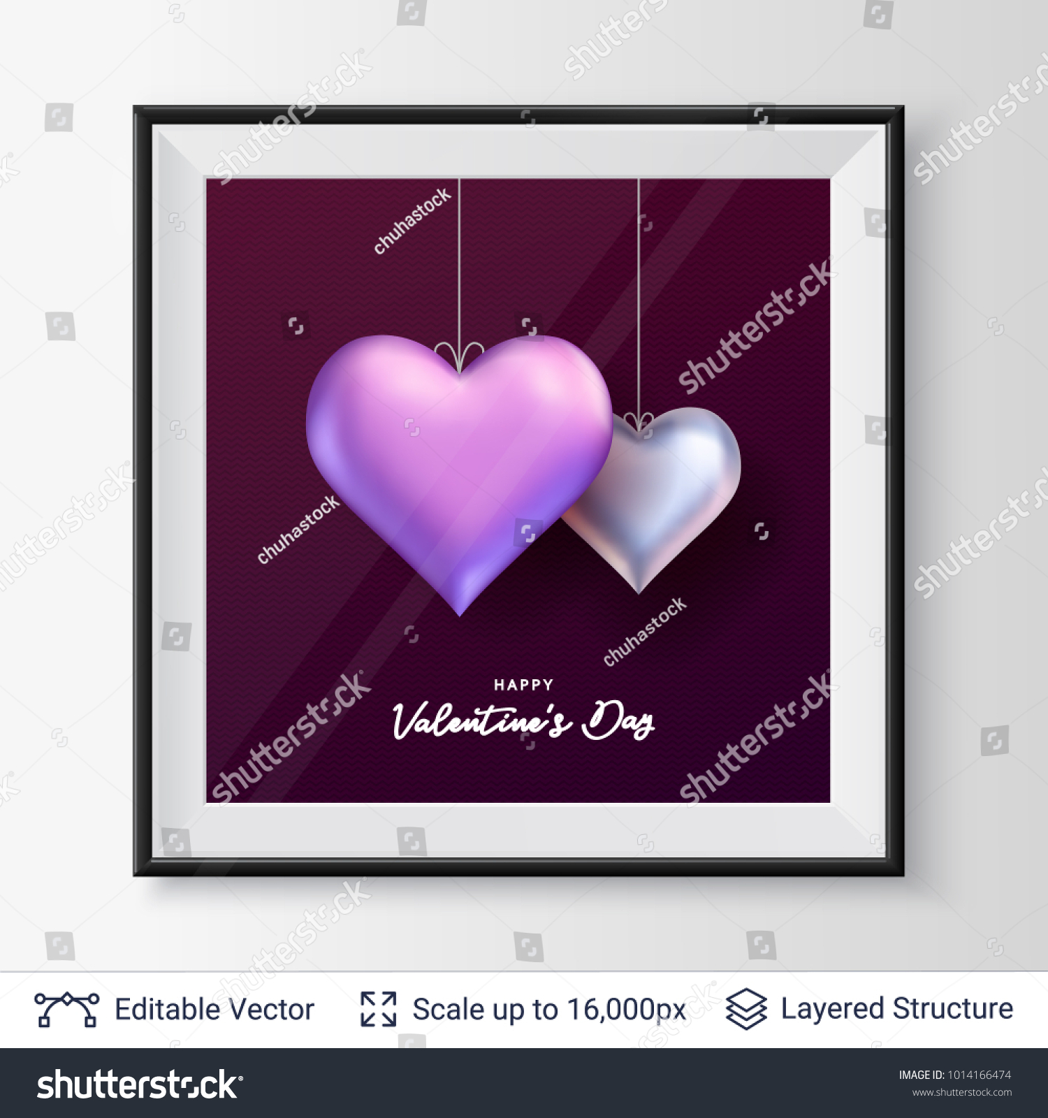 Pair 3d heart shaped air balloons stock vector 1014166474 shutterstock pair of 3d heart shaped air balloons easy to edit vector background holiday greeting kristyandbryce Choice Image