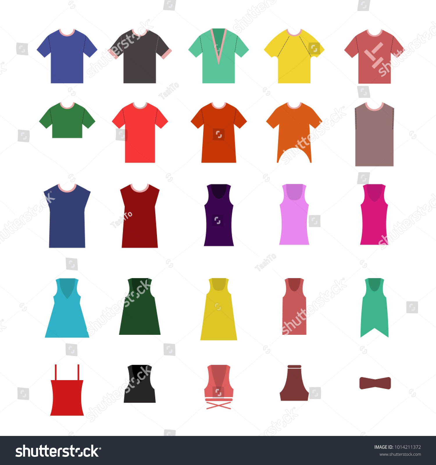 Vector Image Tshirts Clothing Stores Different Stock Vector Royalty
