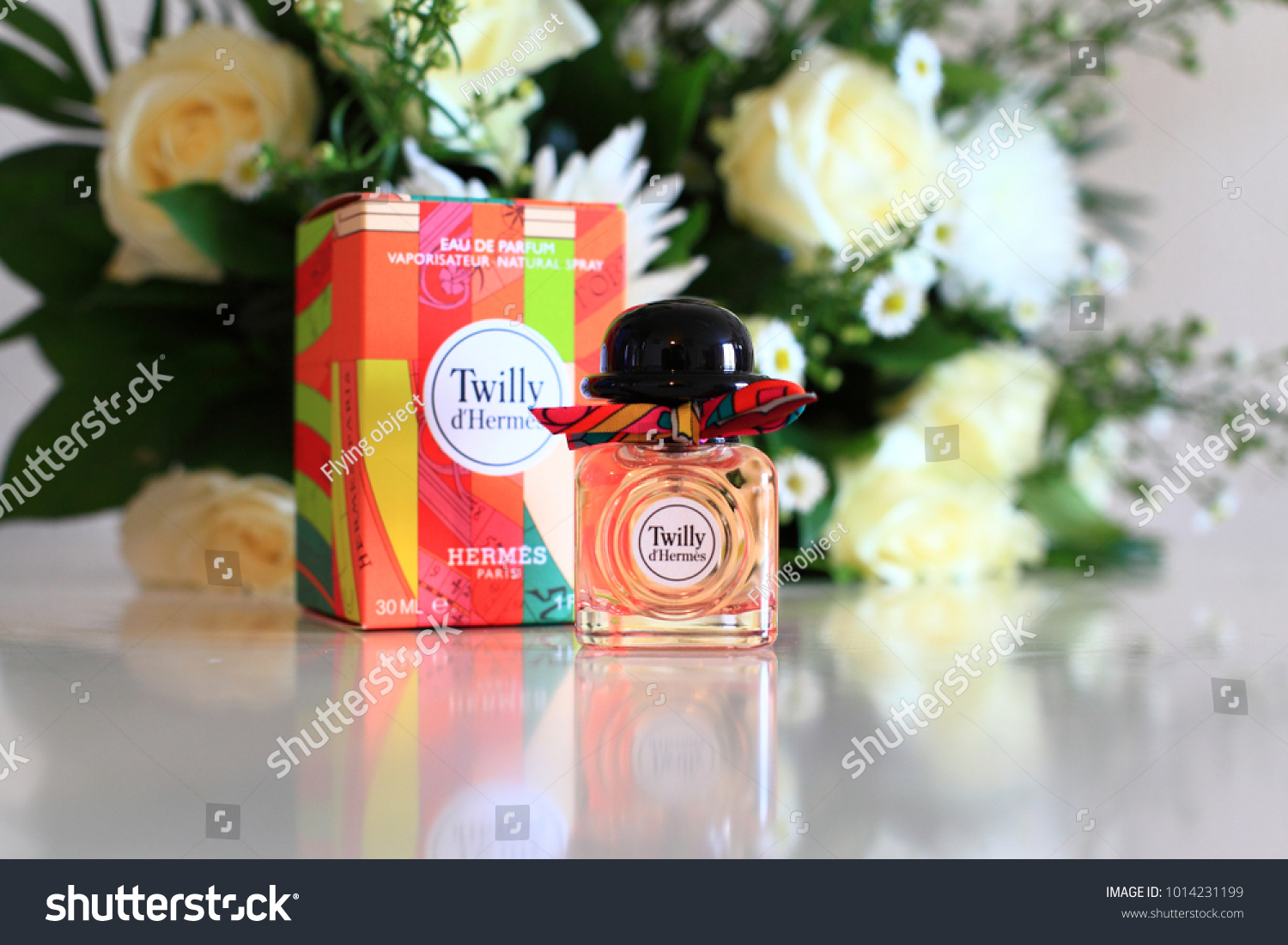 Paris france january 28 2018 new stock photo edit now 1014231199 paris france january 28 2018 new luxury hermes perfume fragrance twilly with izmirmasajfo