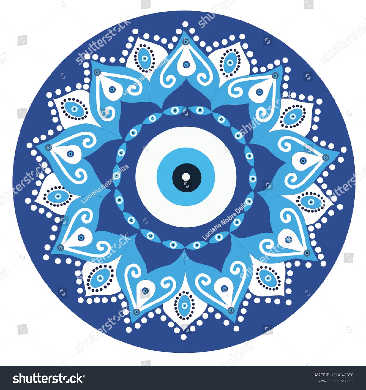 Mandala Greek Evil Eye Vector Symbol Stock Vector Royalty Free