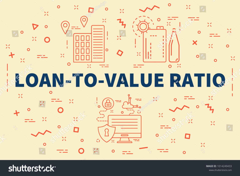 Conceptual Business Illustration Words Loantovalue Ratio Stock Illustration 1014249433