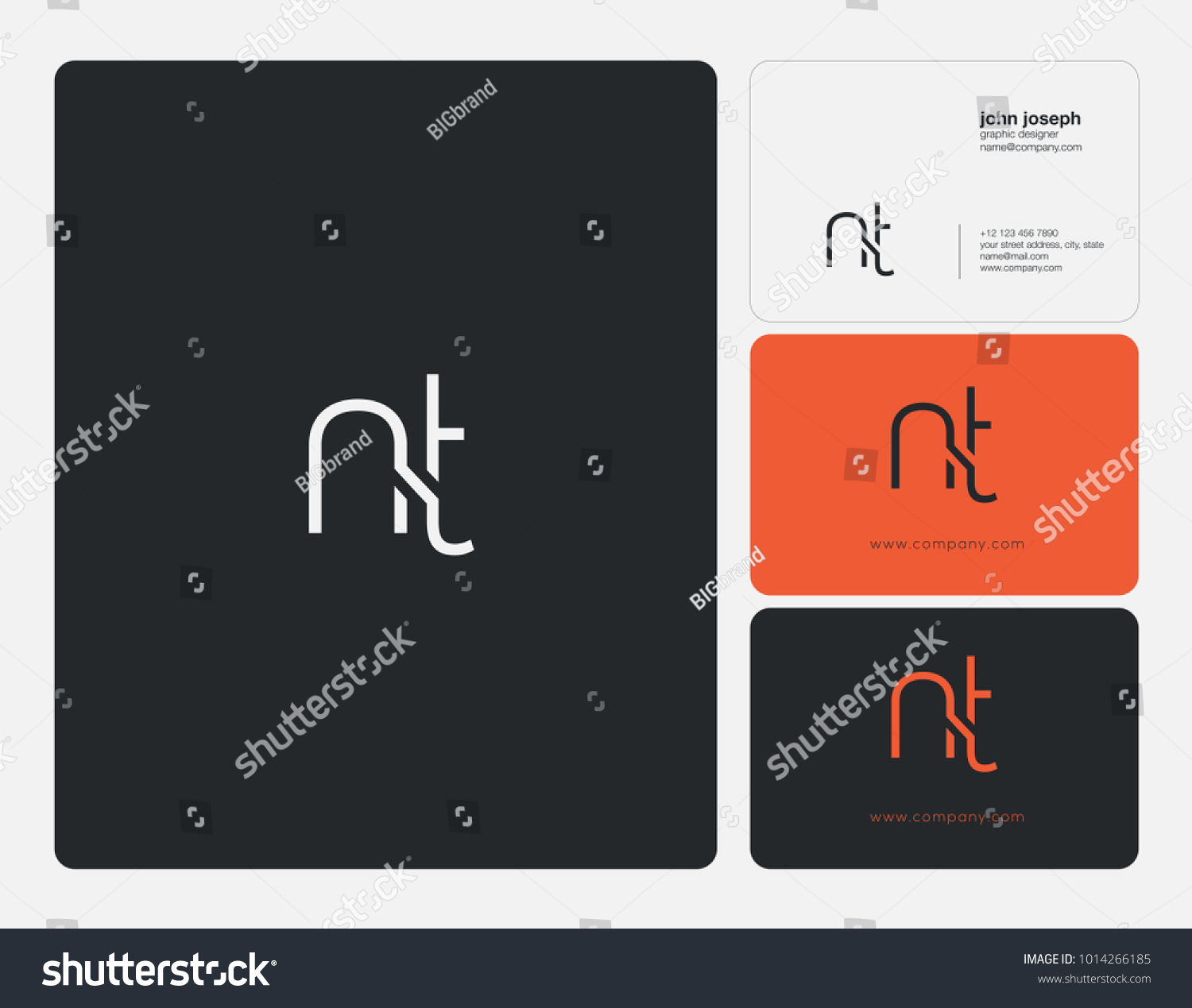 Letters N T N T Joint Stock Vector Royalty Free 1014266185