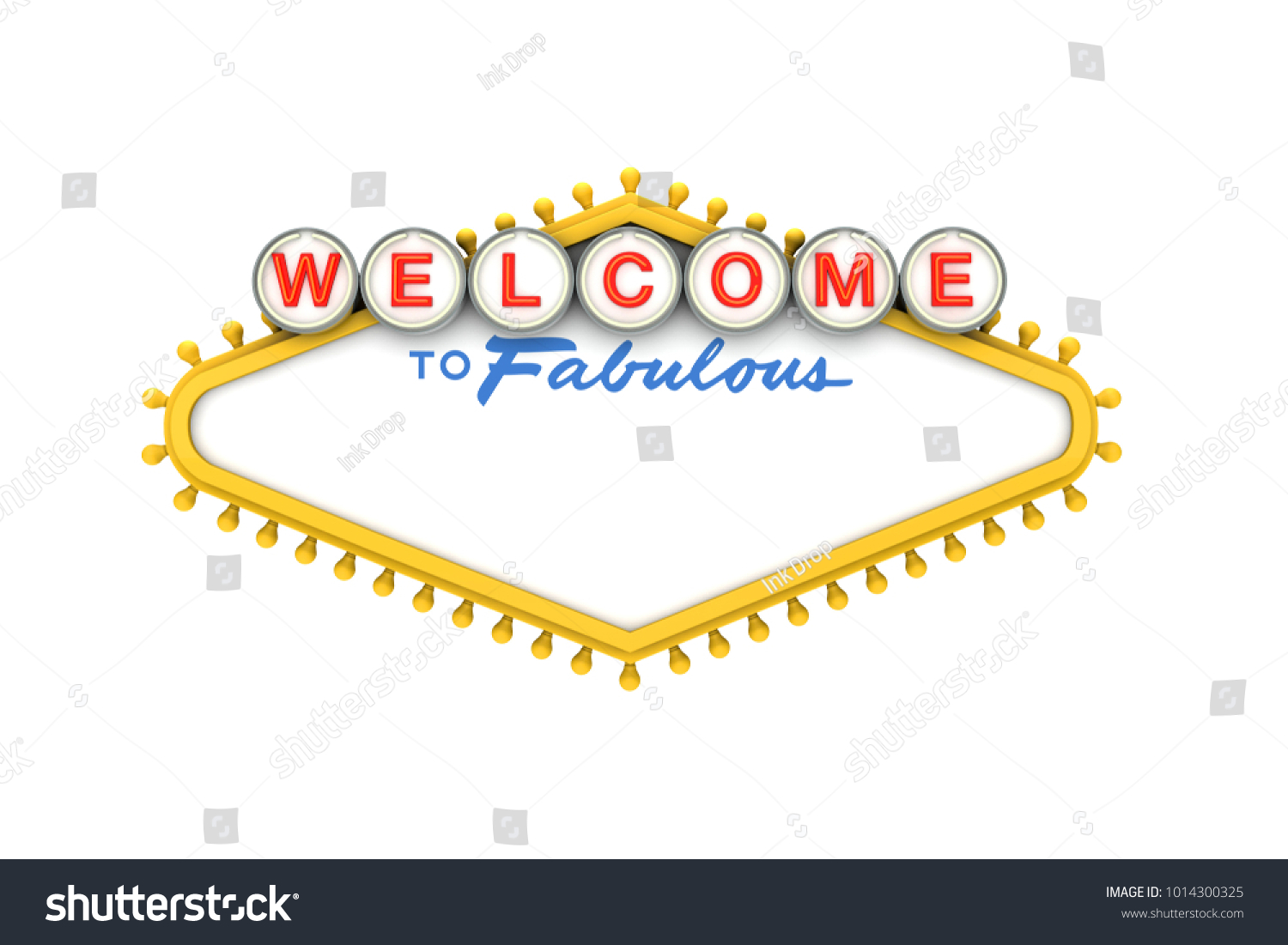 Welcome Las Vegas Classic Sign Copy Stock Illustration 1014300325 ...