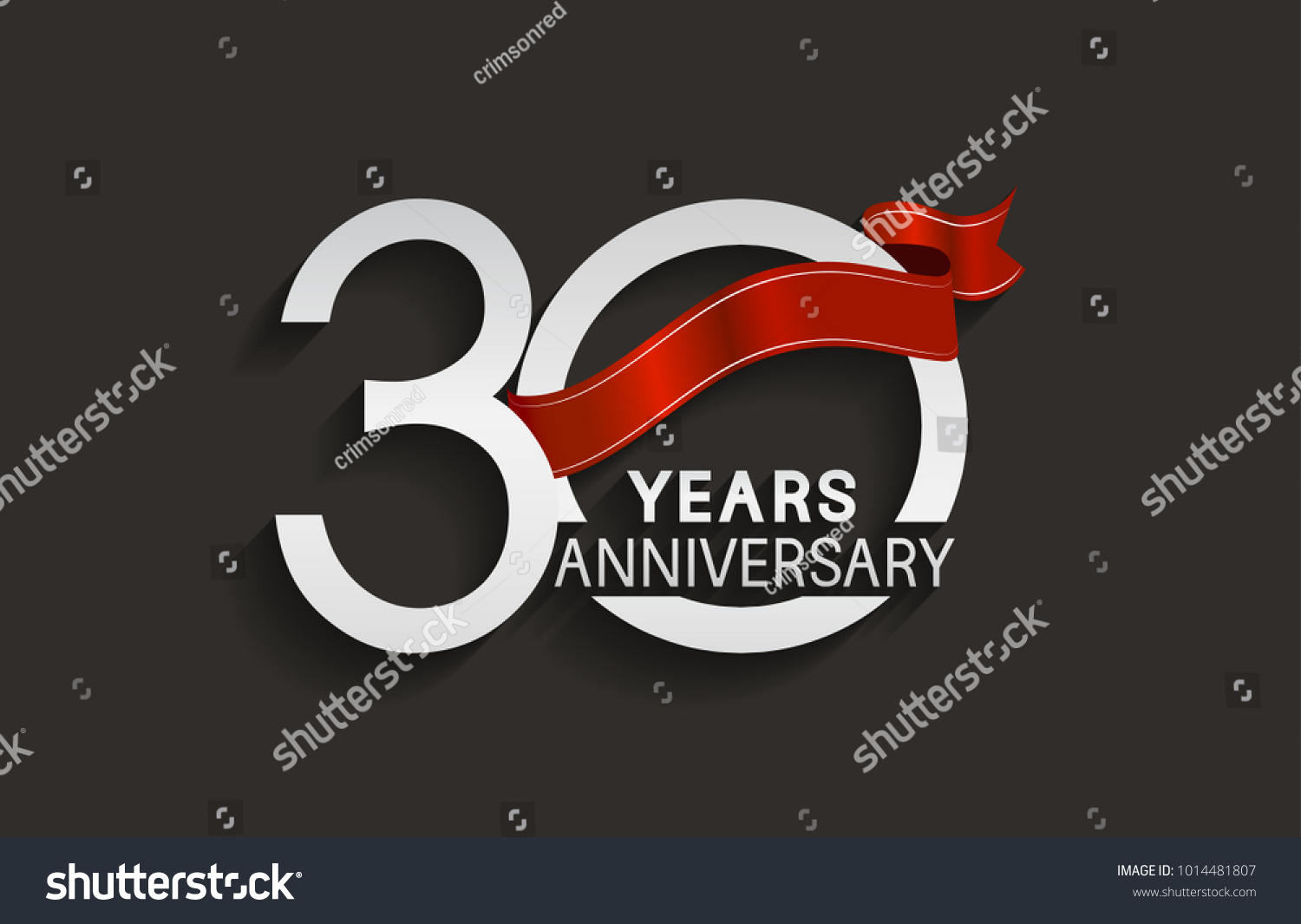 Years anniversary design silver color stock vector