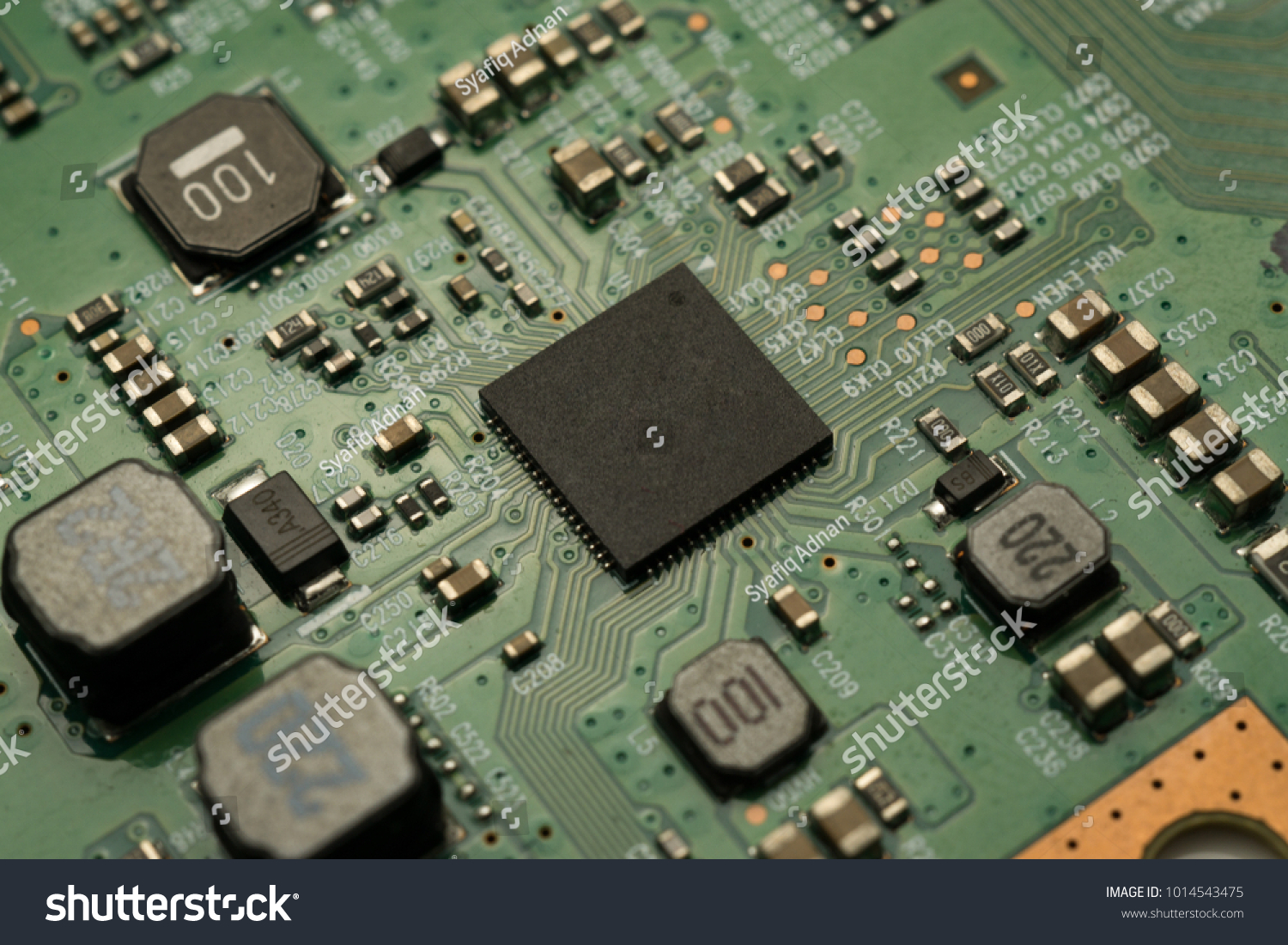 Printed Circuit Board Smd Ic Mounted Stock Photo Edit Now Image With Part On
