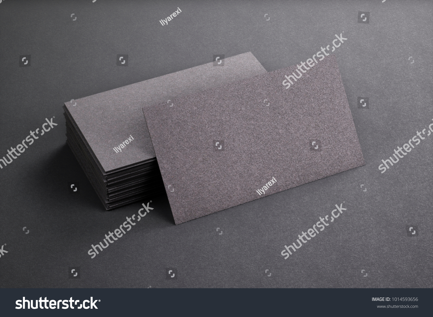 3 D Rendering Business Card Blank Template Stock Illustration 1014593656