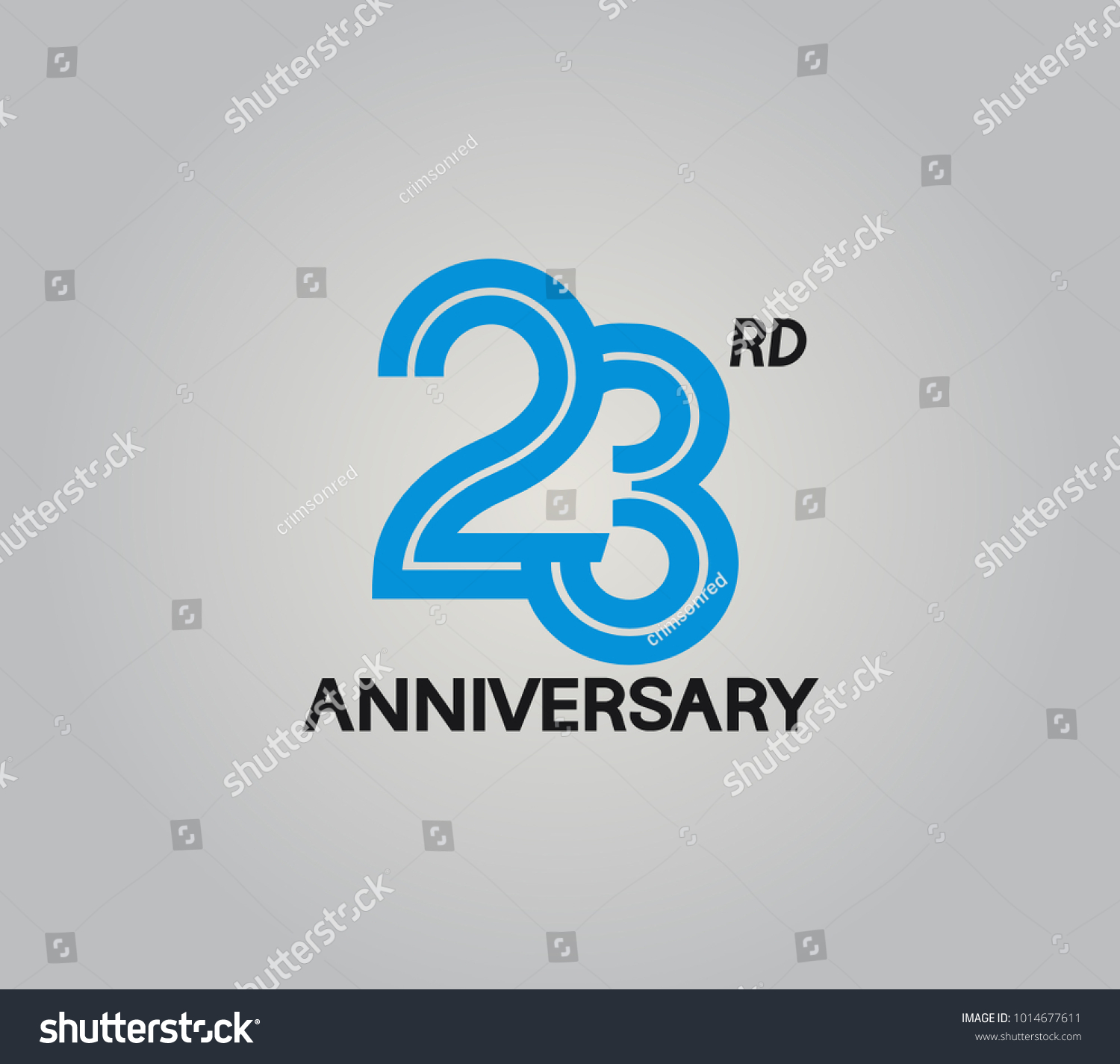 23rd Anniversary Logotype Multiple Line Style Stock Vector Royalty