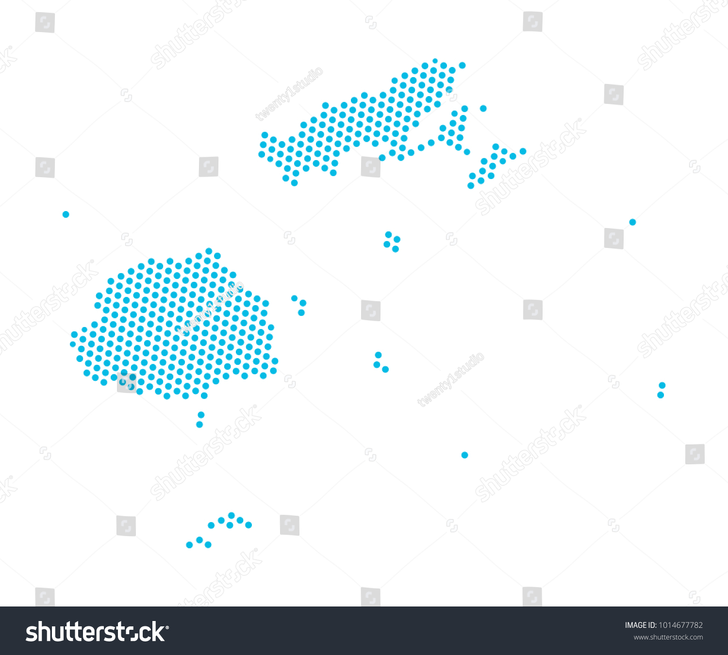 Abstract Blue Map Fiji Dots Planet Stock Vector (Royalty Free ...