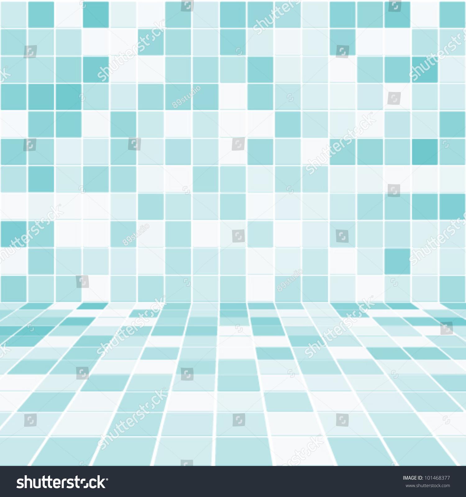 Interior Room Mosaic Tiled Wall Vector Stock Vector (Royalty Free ...