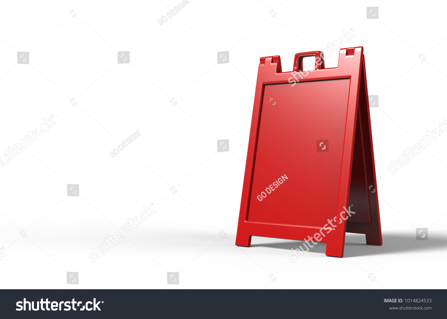Lightweight Portable Plastic A Frames Advertising Banner Stock ...