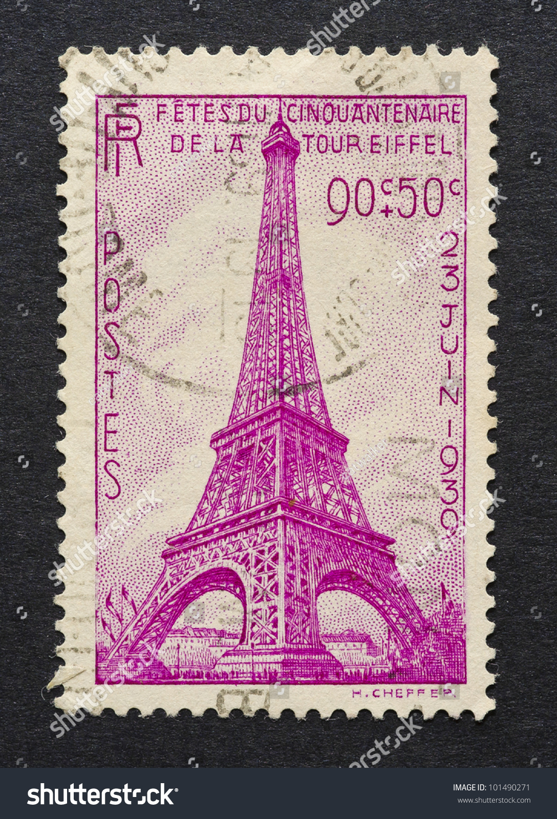 Images Of Stamped Concrete Patios: France Circa 1939 Postage Stamp Printed Stock Photo