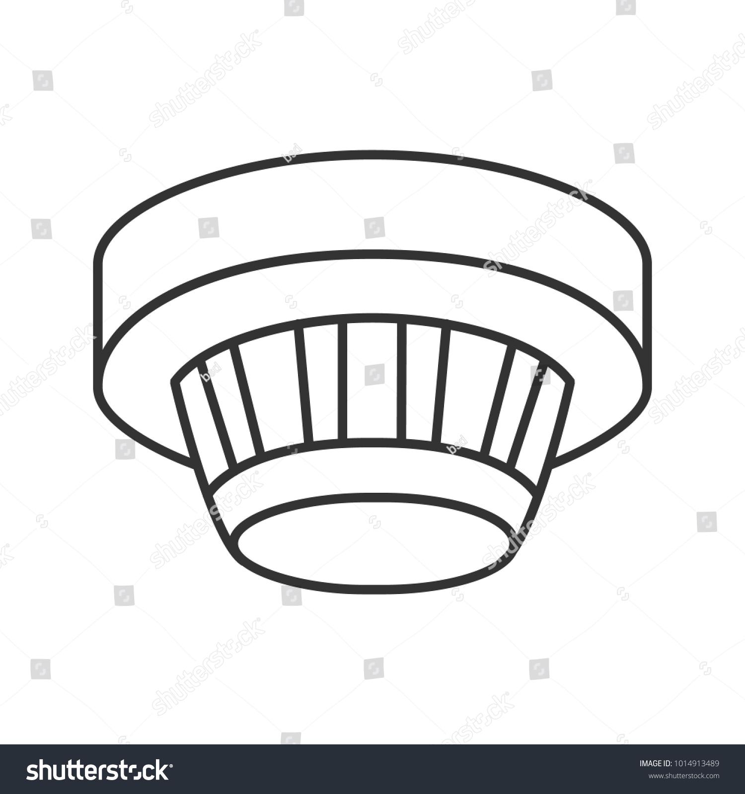 Smoke Detector Linear Icon Fire Alarm Stock Illustration 1014913489