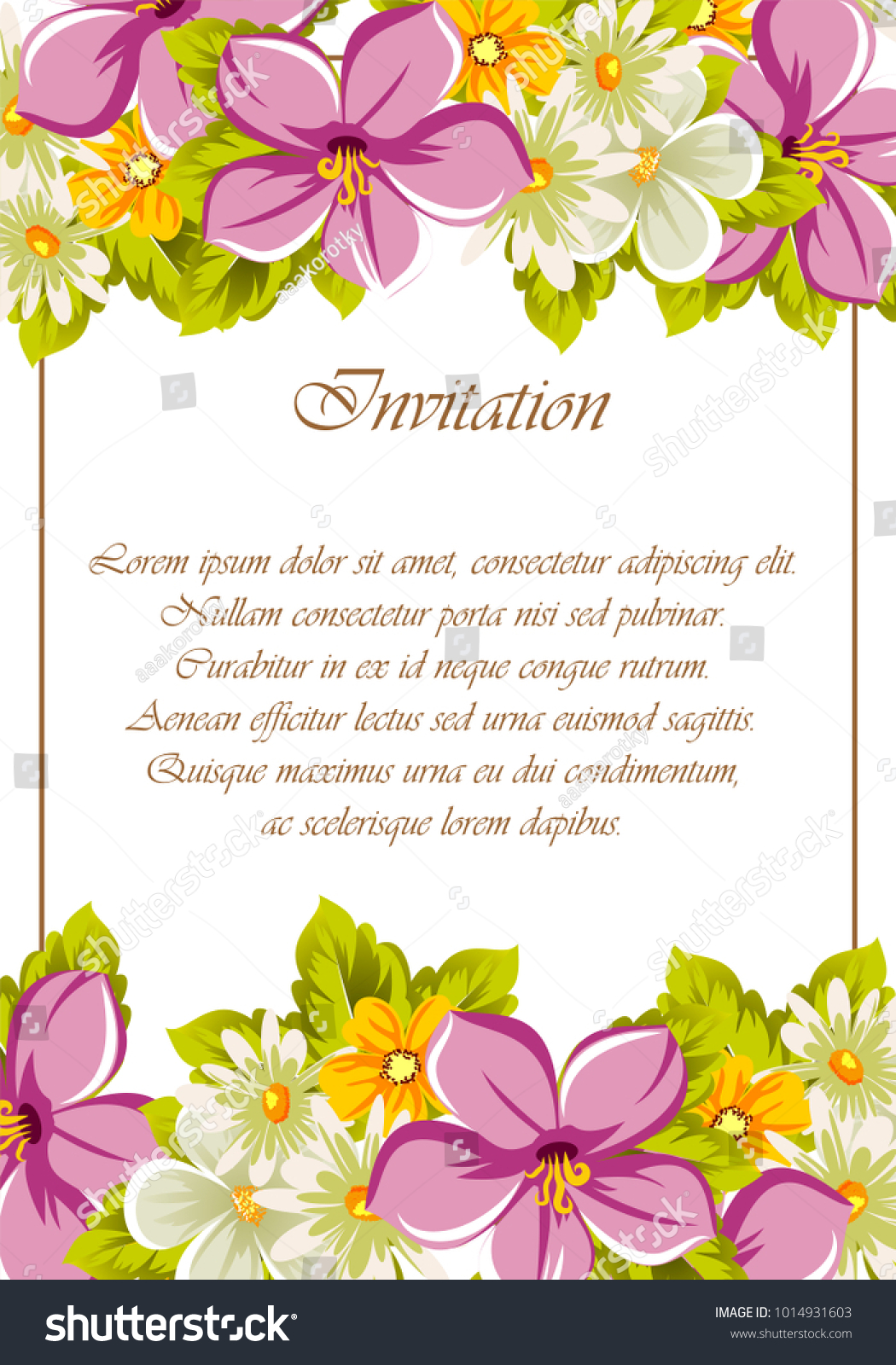 Beautiful frames your text flowers design stock vector royalty free beautiful frames for your text from the flowers for design postcards greeting invitation izmirmasajfo