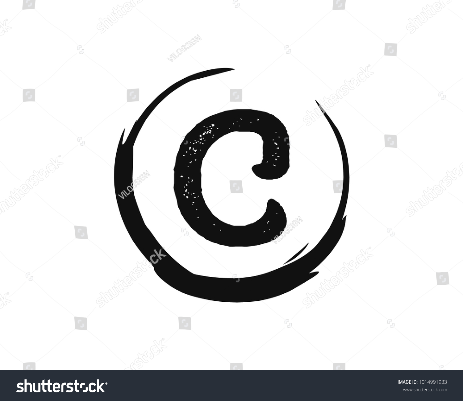 Classic circle initial name letter c stock vector 1014991933 classic circle with initial name letter c icon symbol logo vector biocorpaavc Images