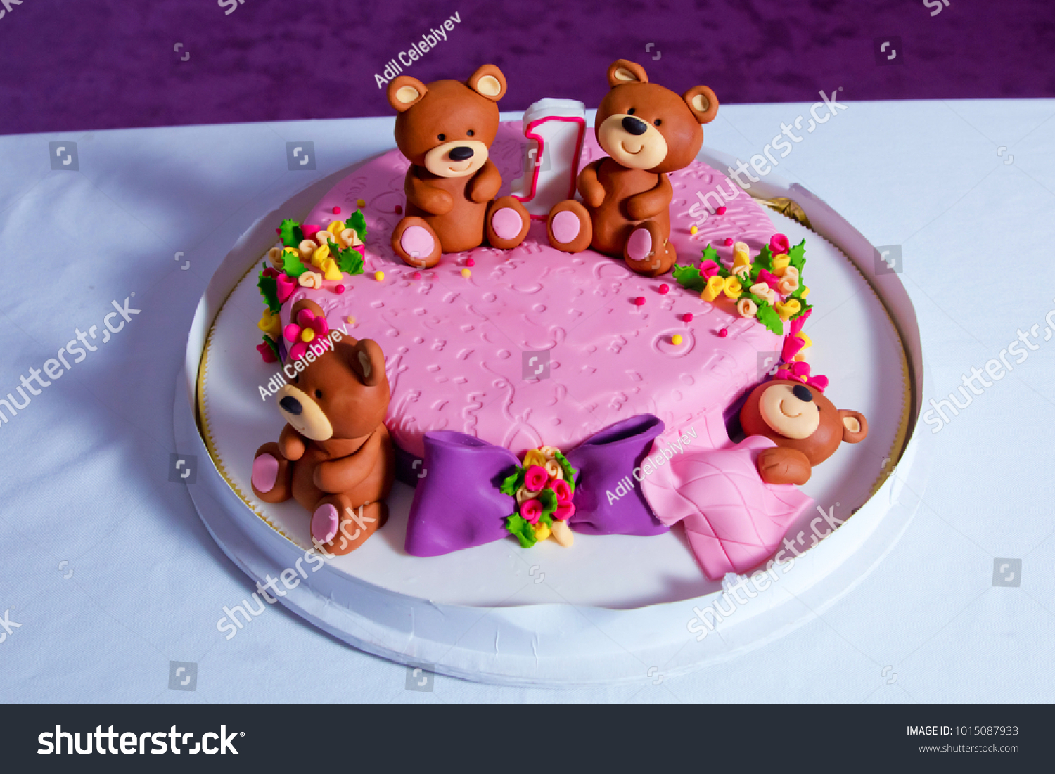 Terrific 1 Year Old Birthday Cake Big Stock Photo Edit Now 1015087933 Personalised Birthday Cards Cominlily Jamesorg