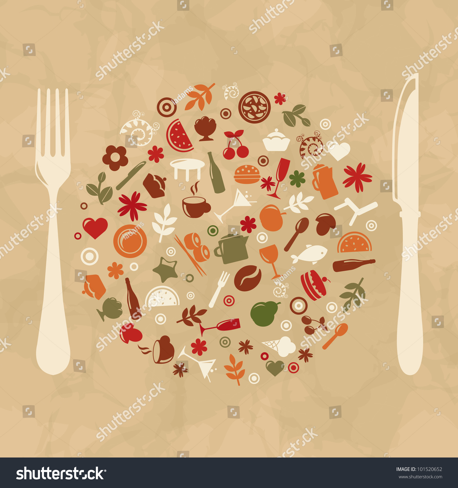 Vintage restaurant design old paper vector illustration
