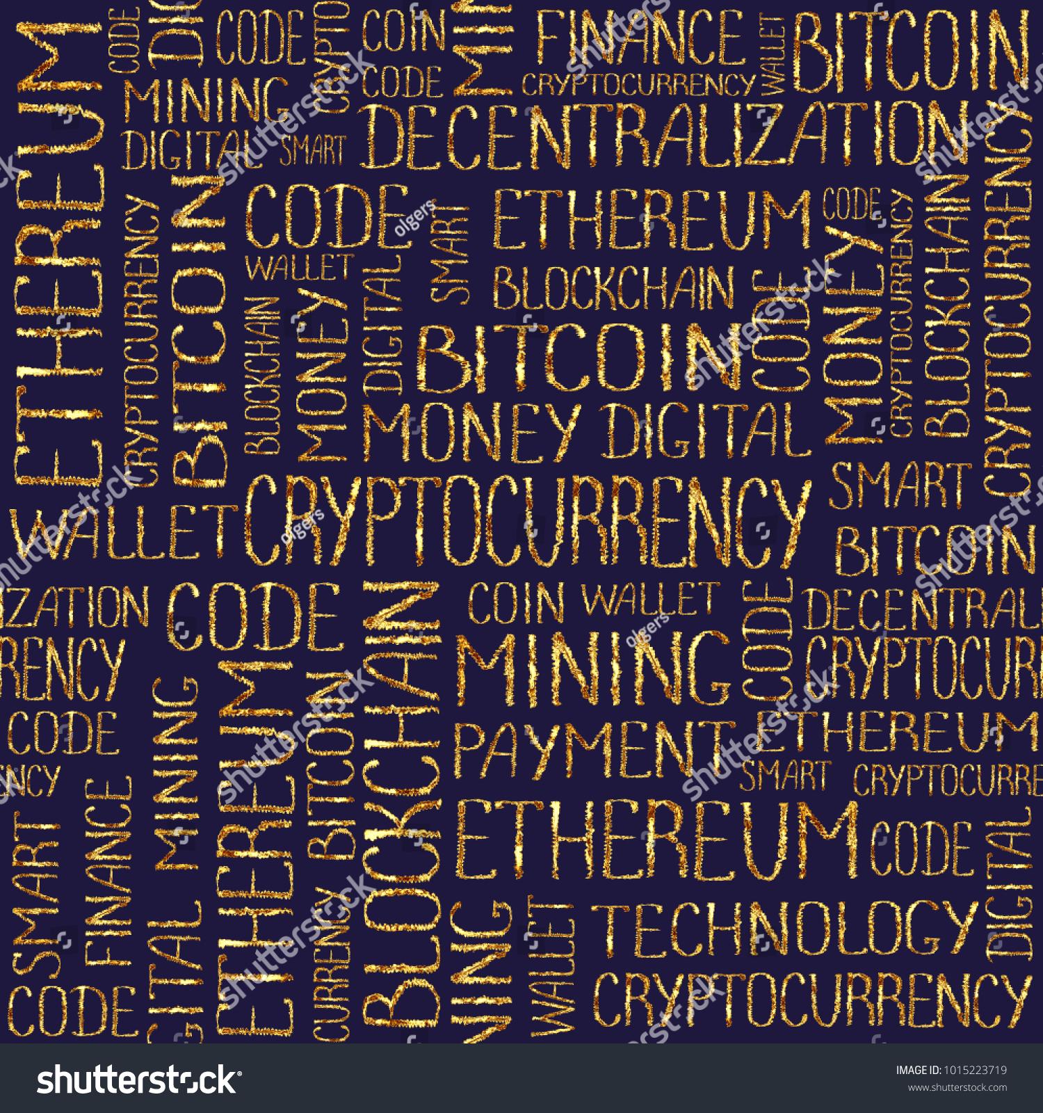 Cryptocurrency Concept Blockchain Finance Web Money Stock