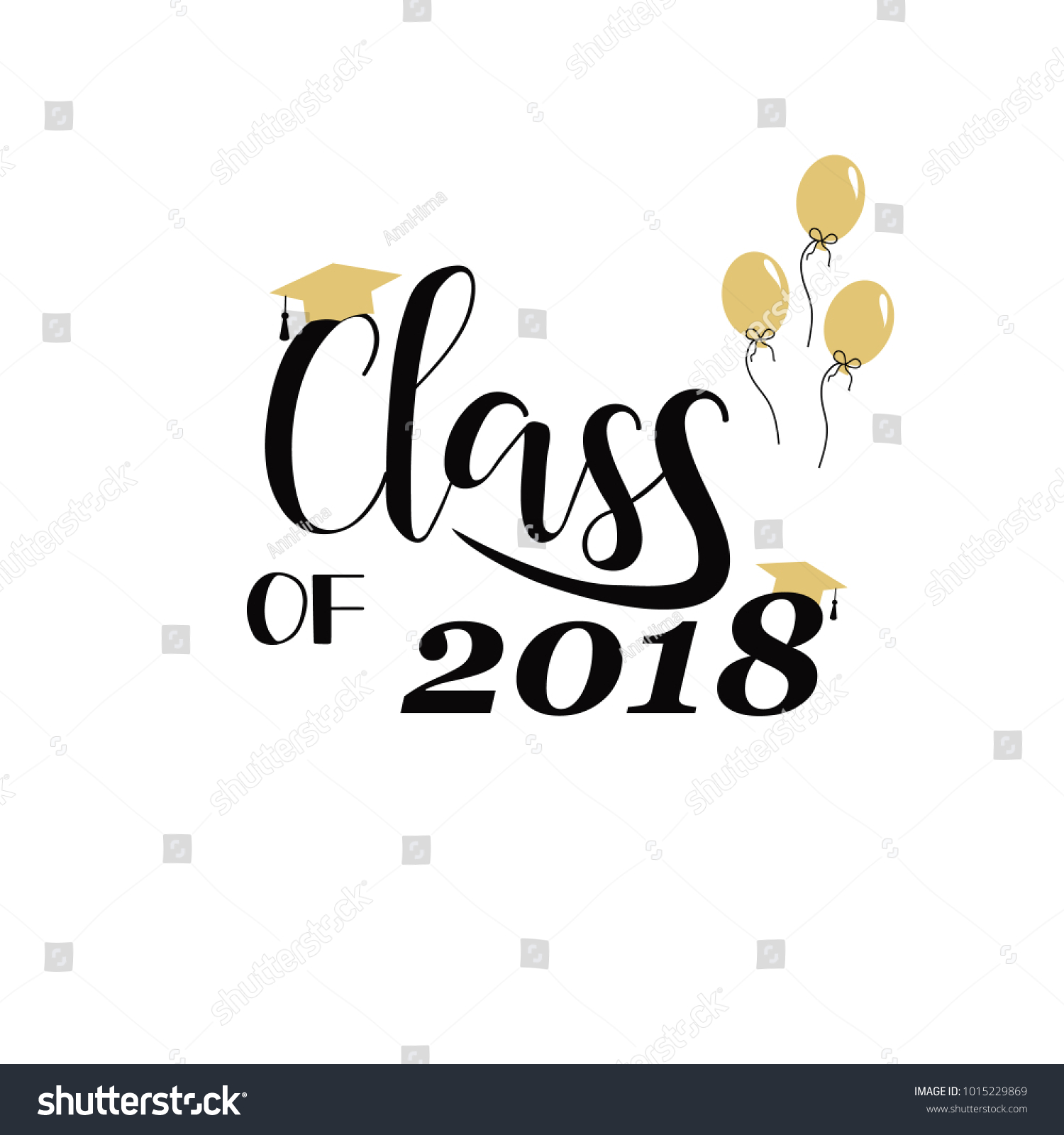 Class 2018 Hand Drawn Lettering Vector Stock-Vektorgrafik ...