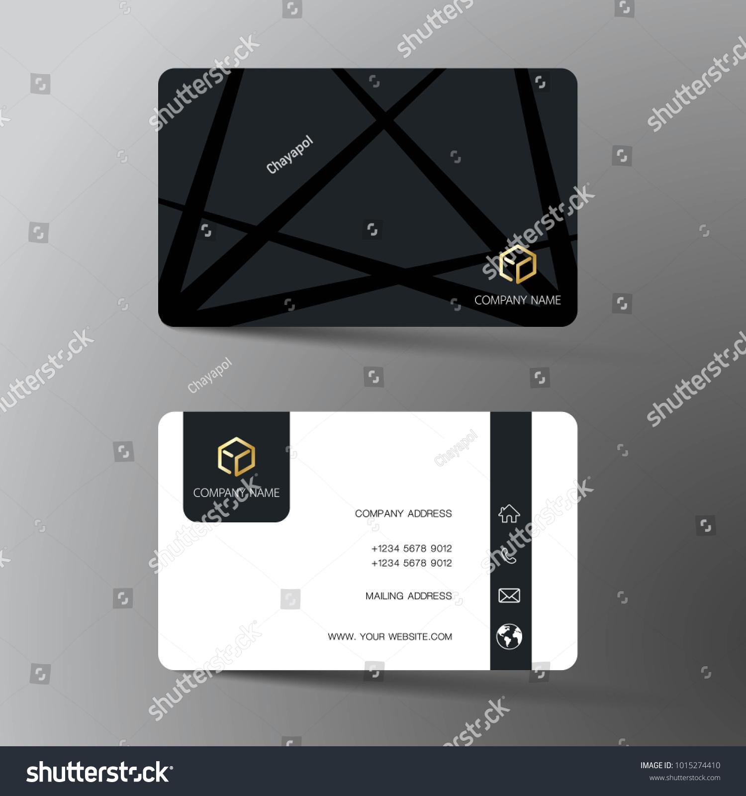 modern business card template design inspiration のベクター画像素材
