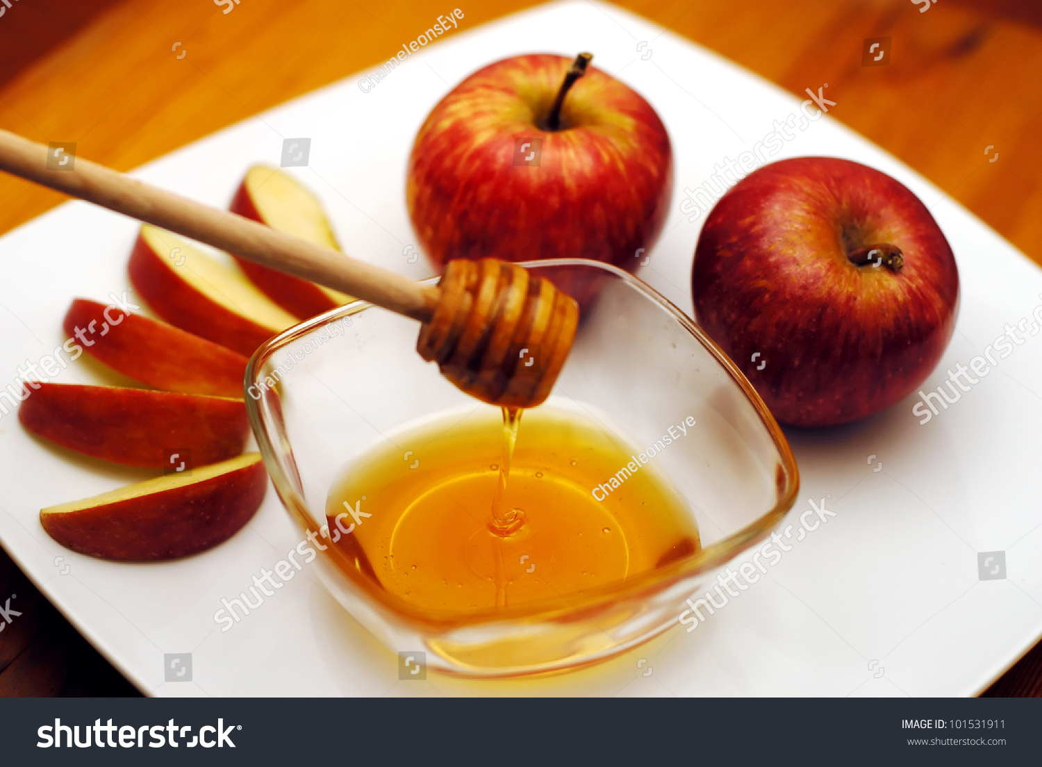 Jewish New Year Rosh Hashanah Apple Stock Photo 101531911 ...