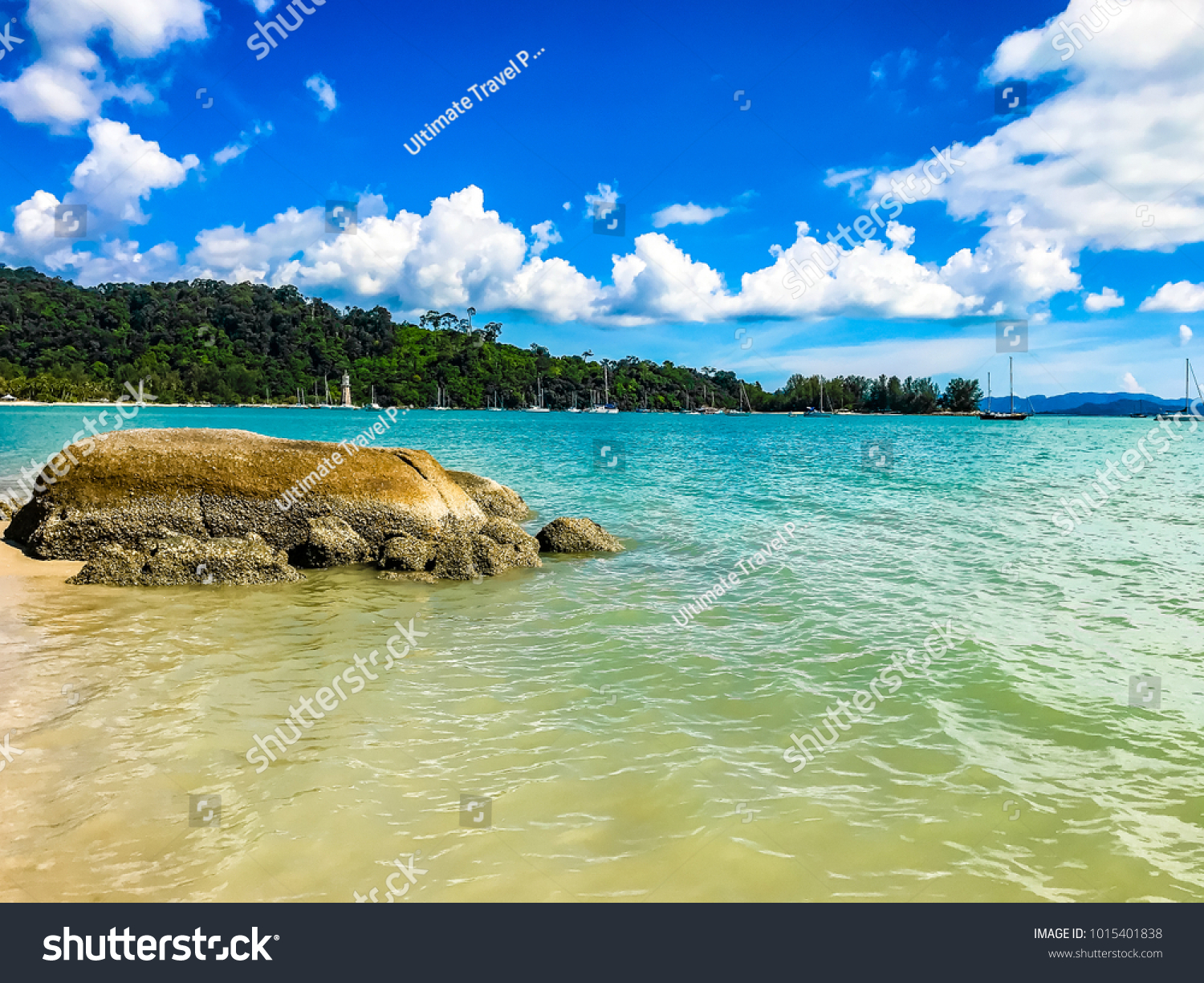 langkawi island malaysia exotic tropical beaches stock photo