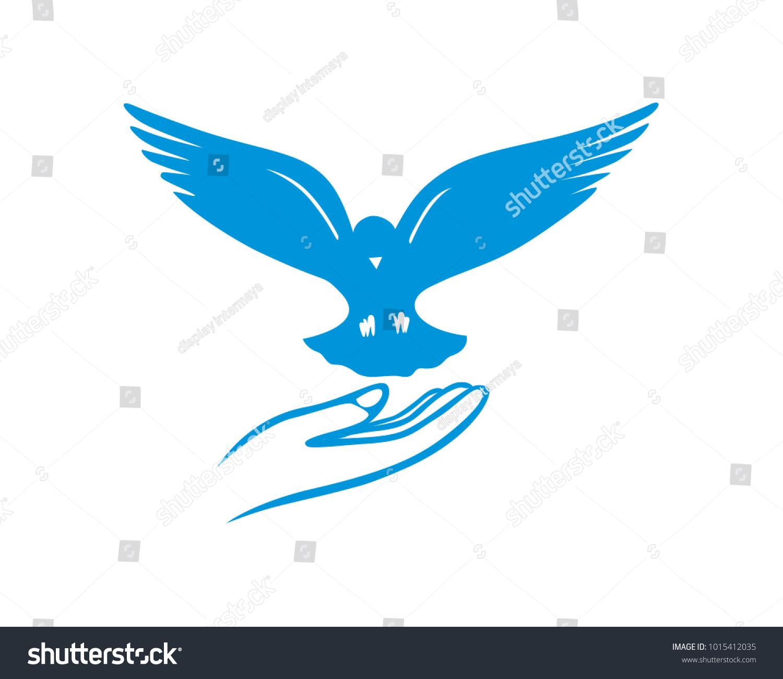 Releasing Pigeon Bird Symbol Peace Freedom Stock Vector Royalty