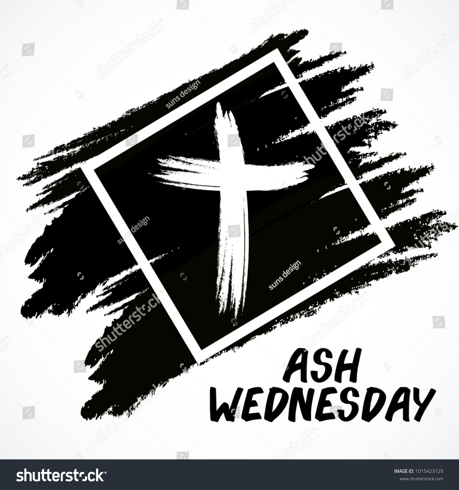 Vector illustration abstract background cross ash stock vector vector illustration of a abstract background with cross for ash wednesday lent season buycottarizona