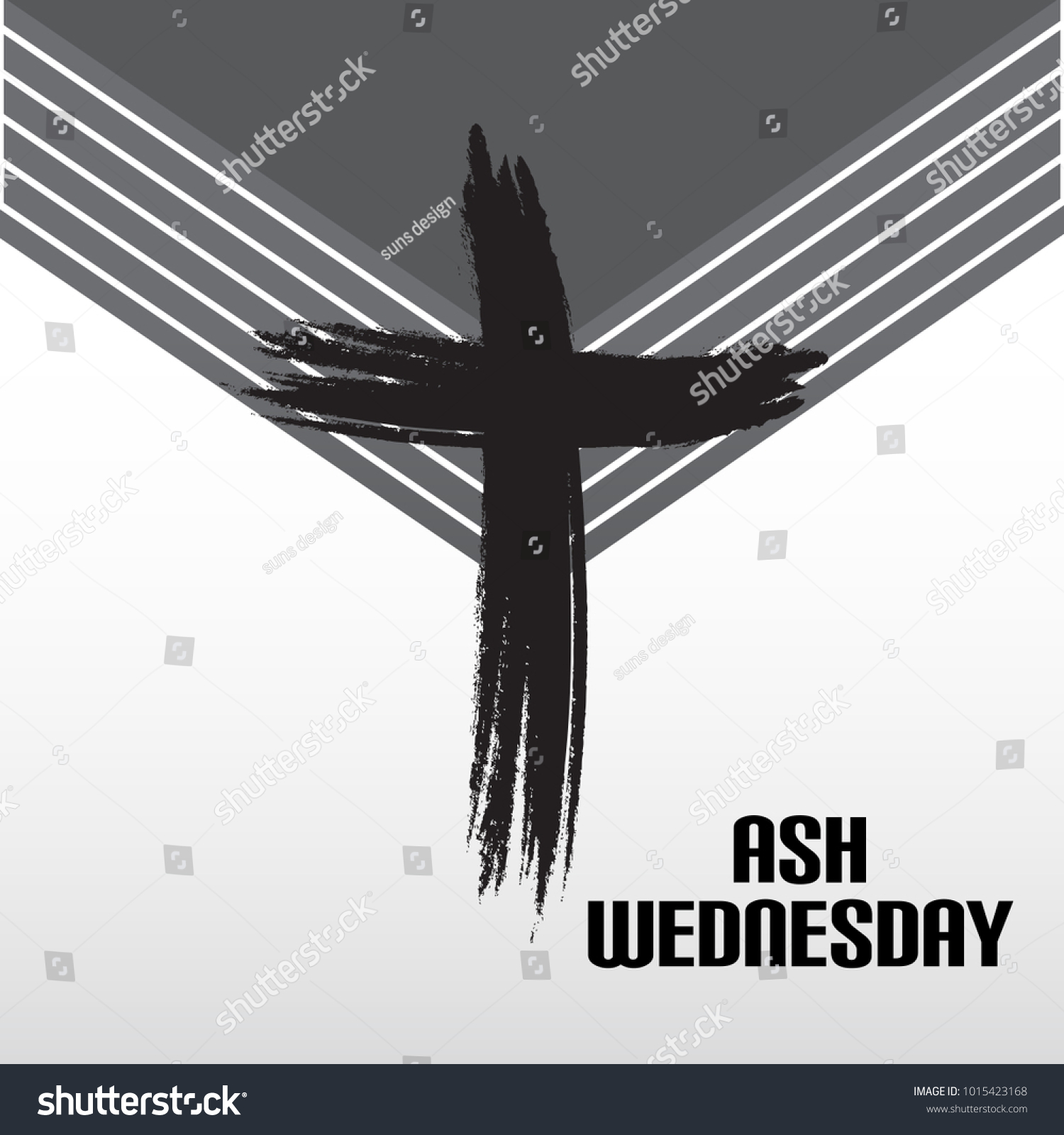 Vector illustration abstract background cross ash stock vector vector illustration of a abstract background with cross for ash wednesday lent season buycottarizona Image collections