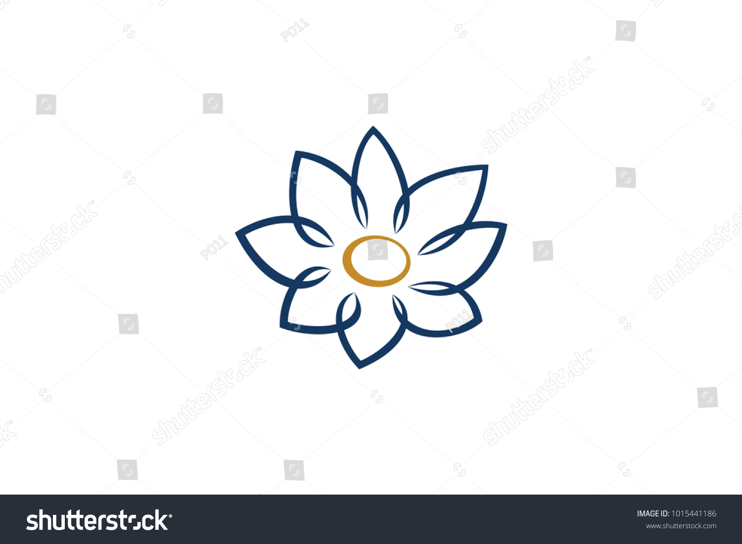 Simple lotus flower stock vector royalty free 1015441186 simple lotus flower izmirmasajfo
