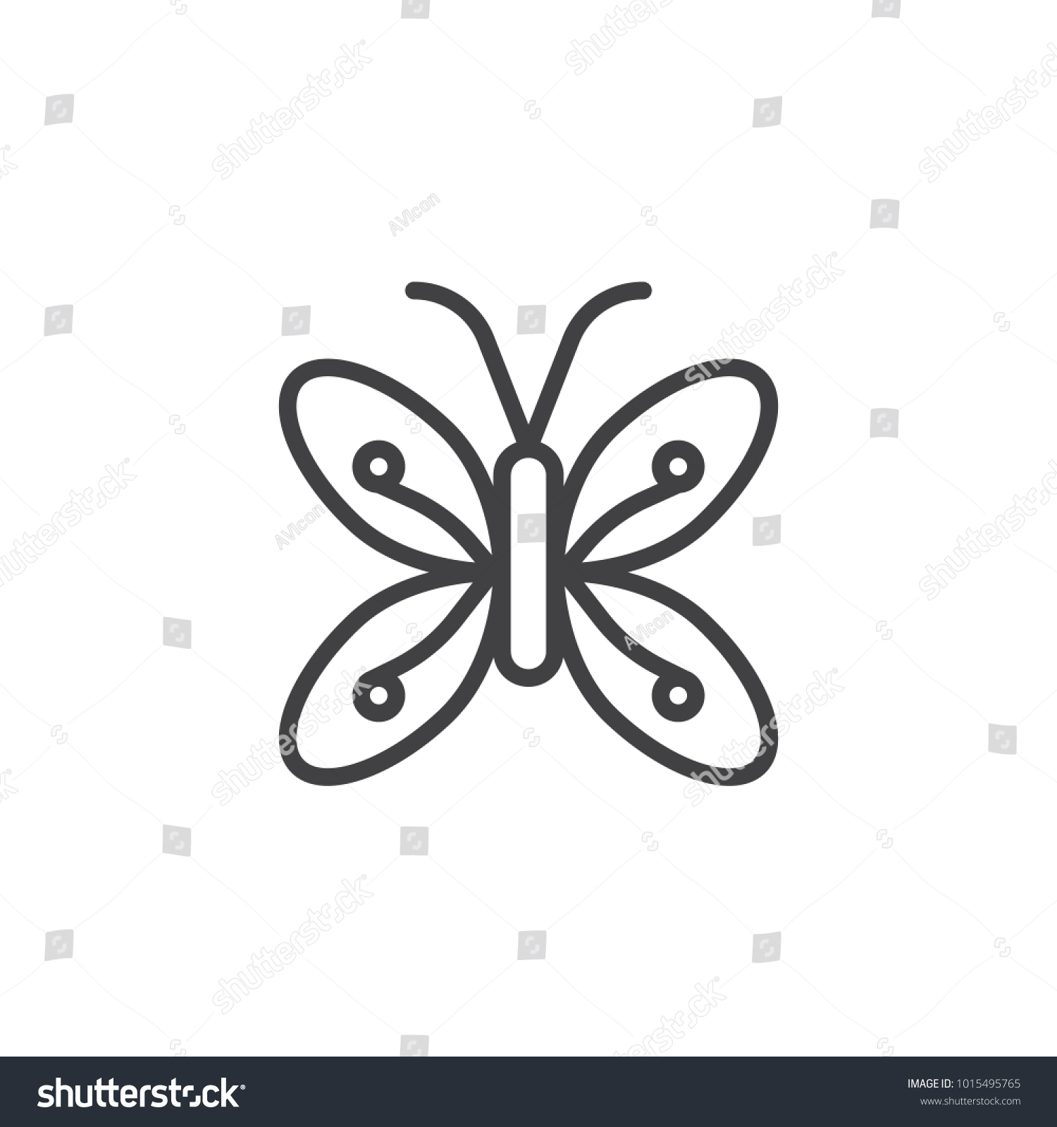 Butterfly line icon outline vector sign stock vector 1015495765 butterfly line icon outline vector sign linear style pictogram isolated on white symbol biocorpaavc Images